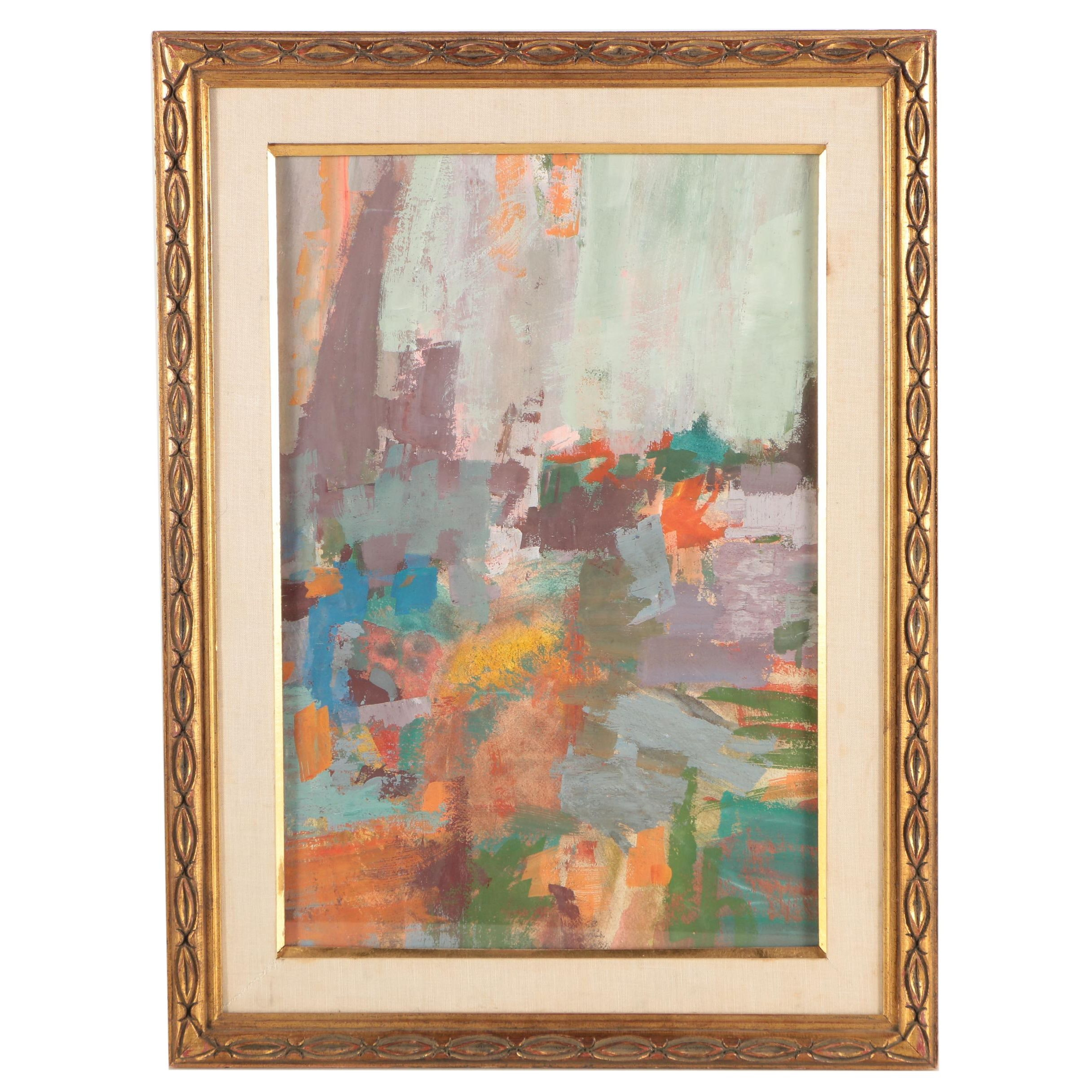 Abstract Oil Painting Attributed to Morris Shulman