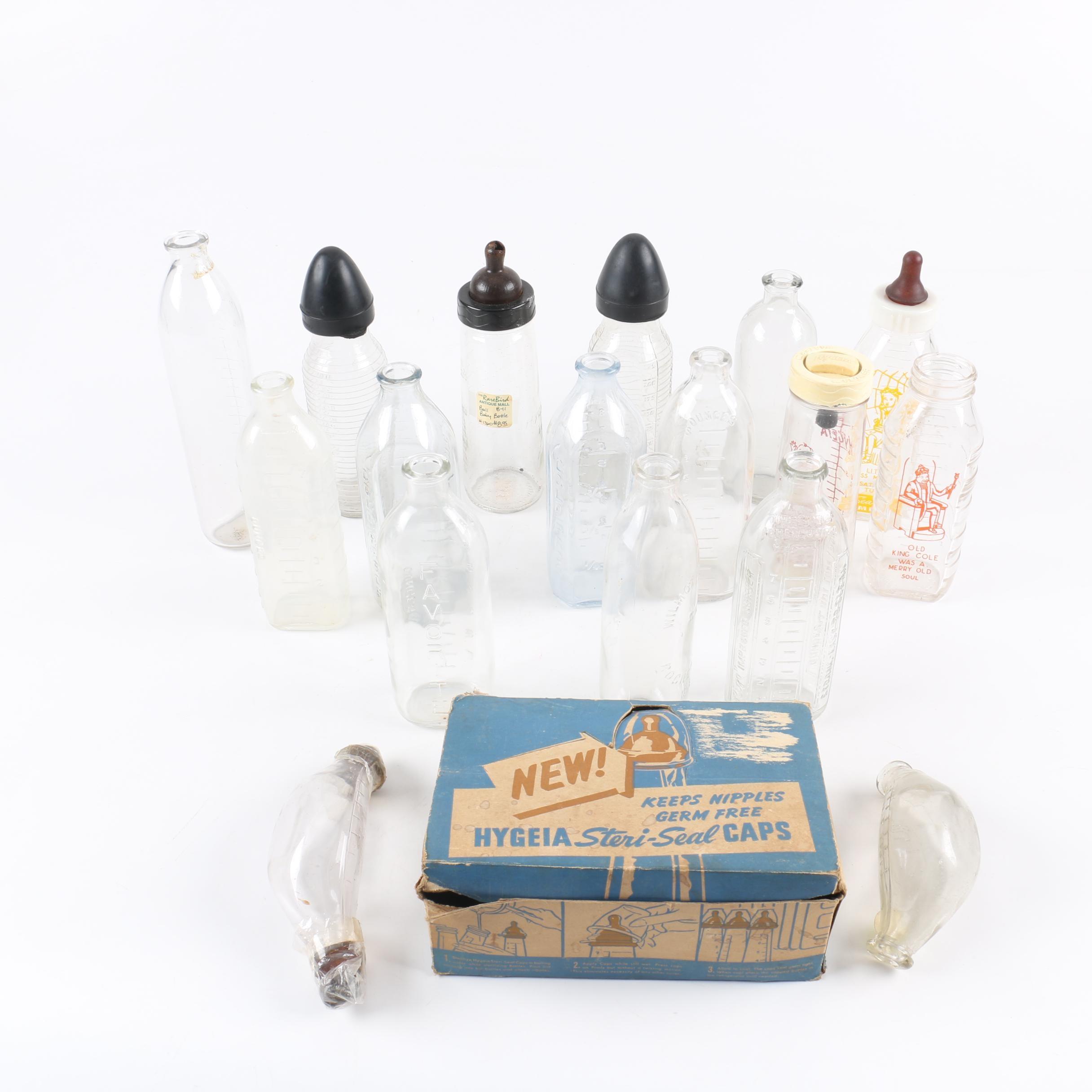 Vintage Glass Baby Bottles