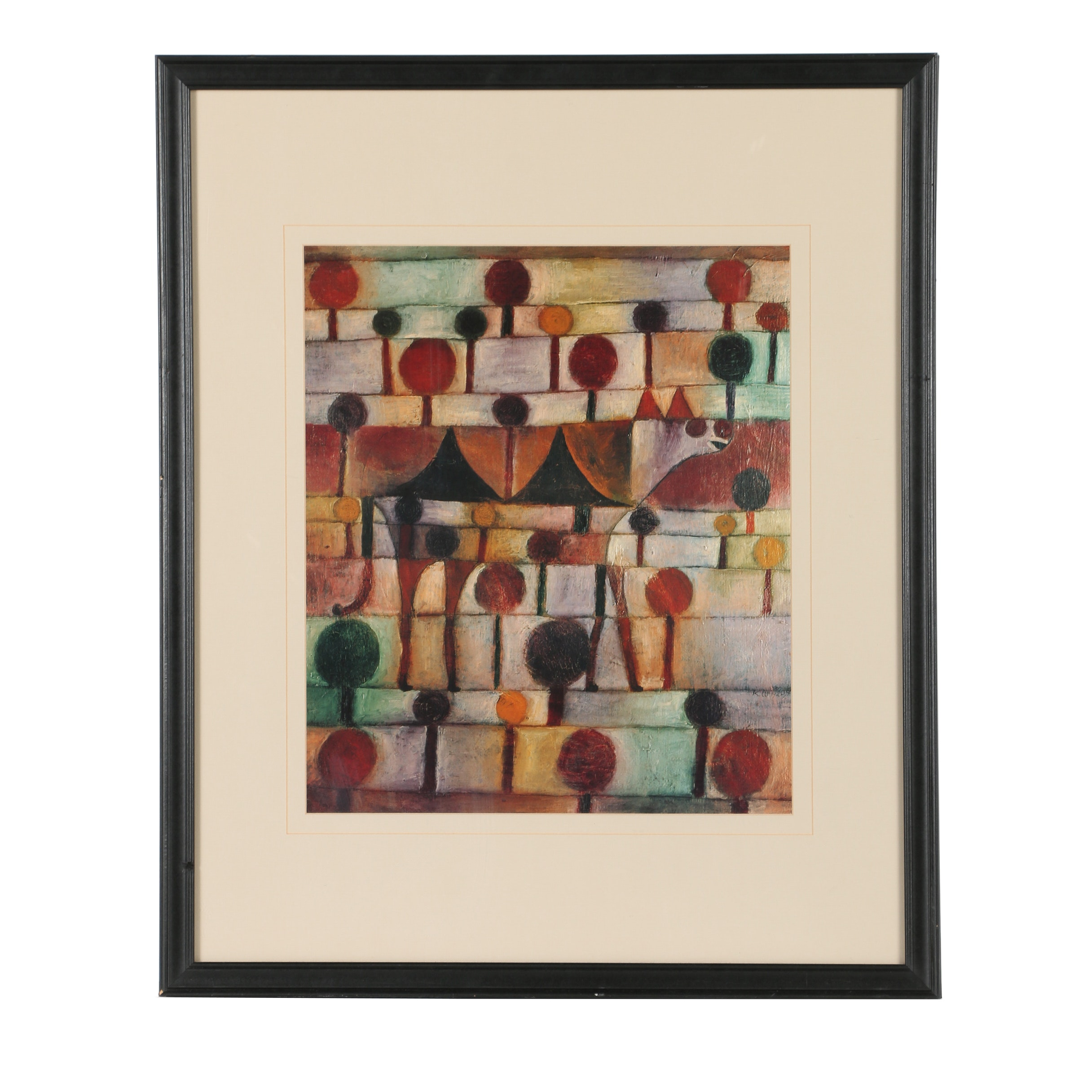 """Offset Lithograph After Paul Klee """"Camel (In Rhythmic Landscape with Trees)"""""""