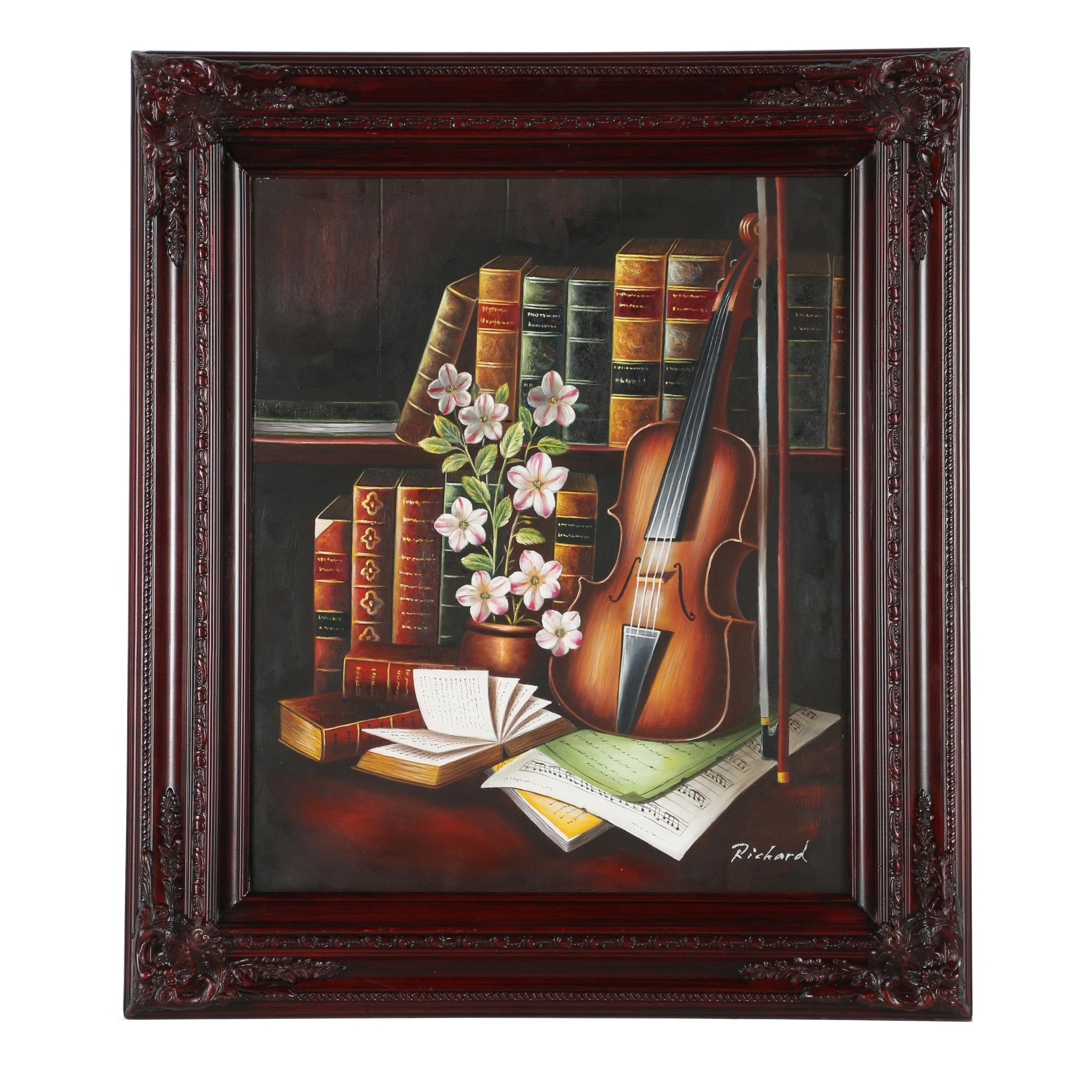 Richard Oil Still Life Painting on Canvas