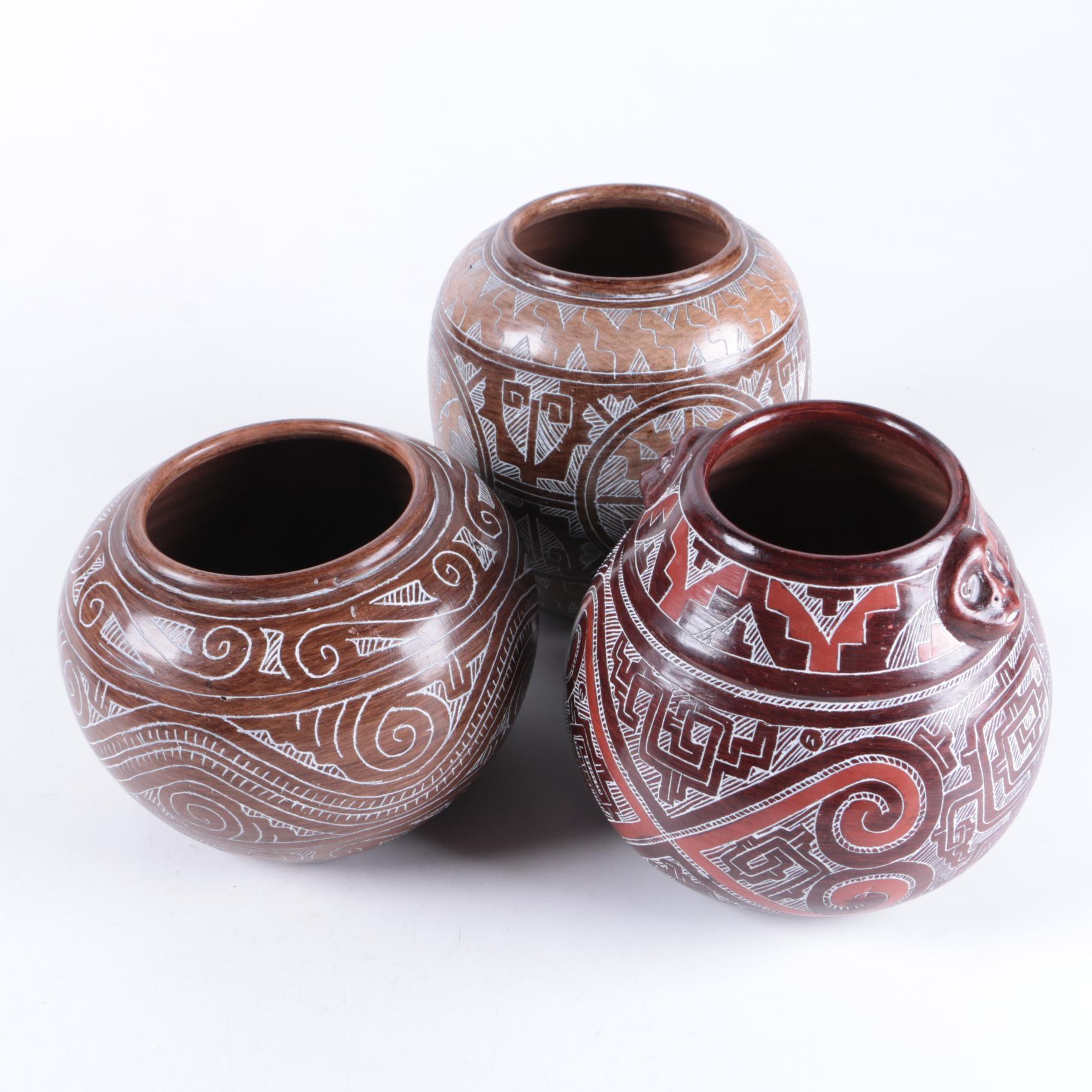Brazilian Art Pottery Vessels