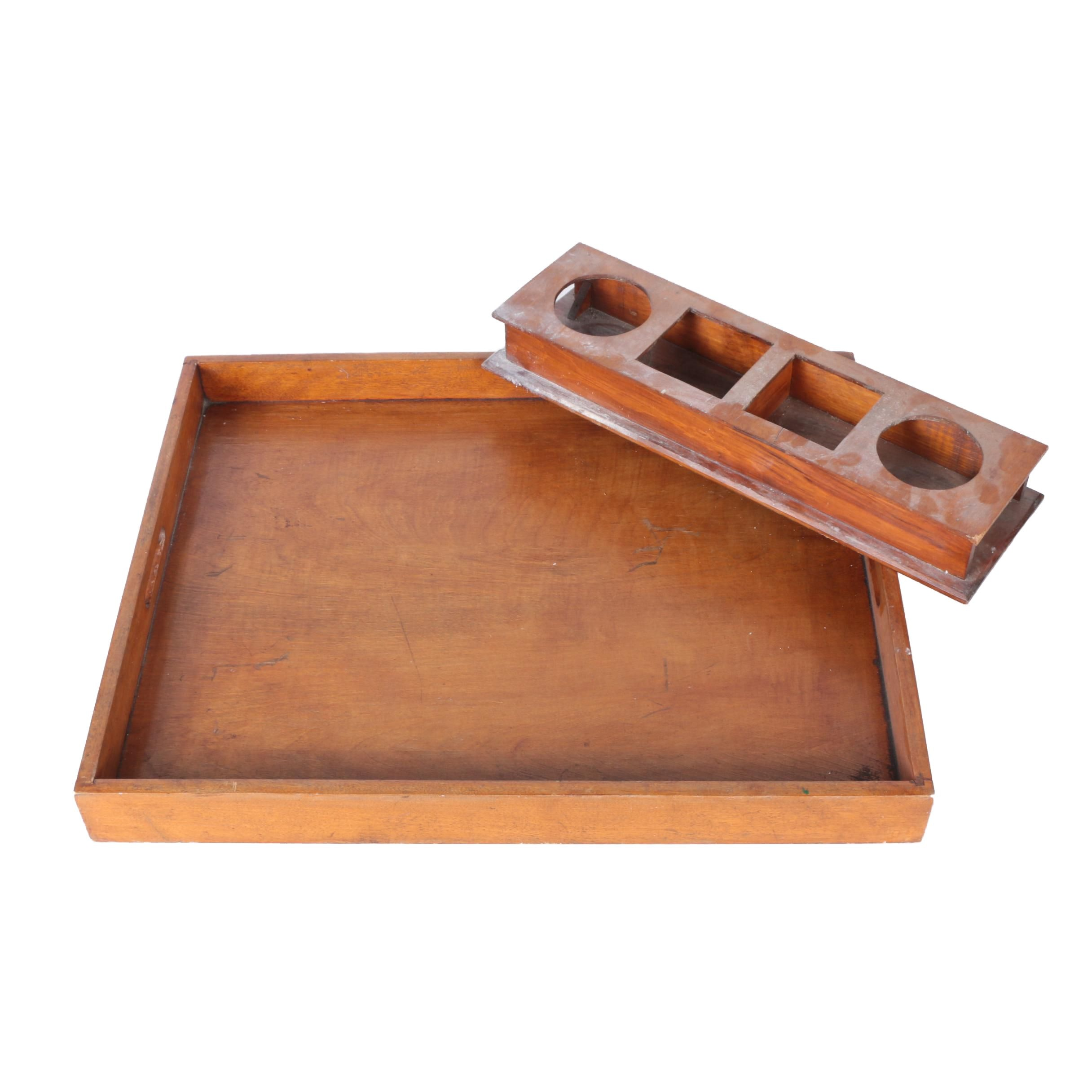 Wooden Gallery Tray and Caddy