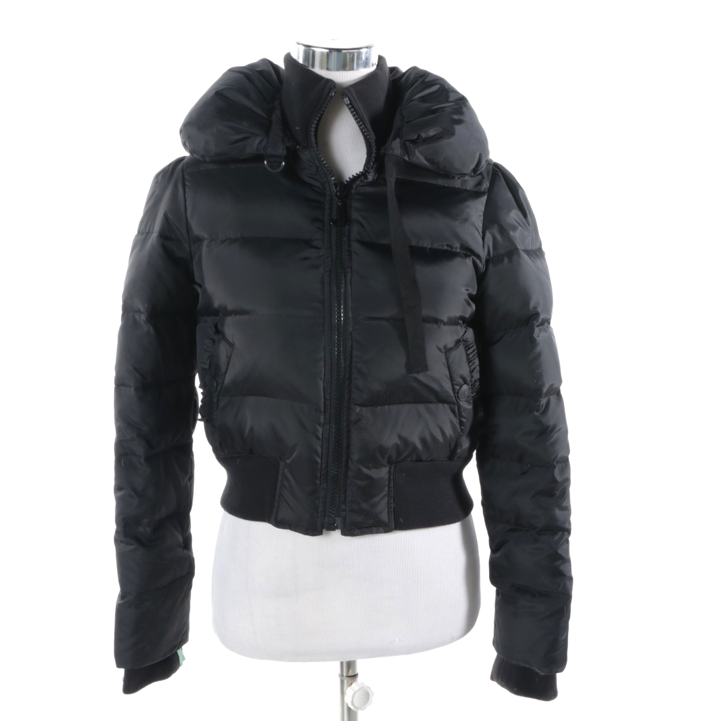 Women's Juicy Couture Black Puffer Jacket