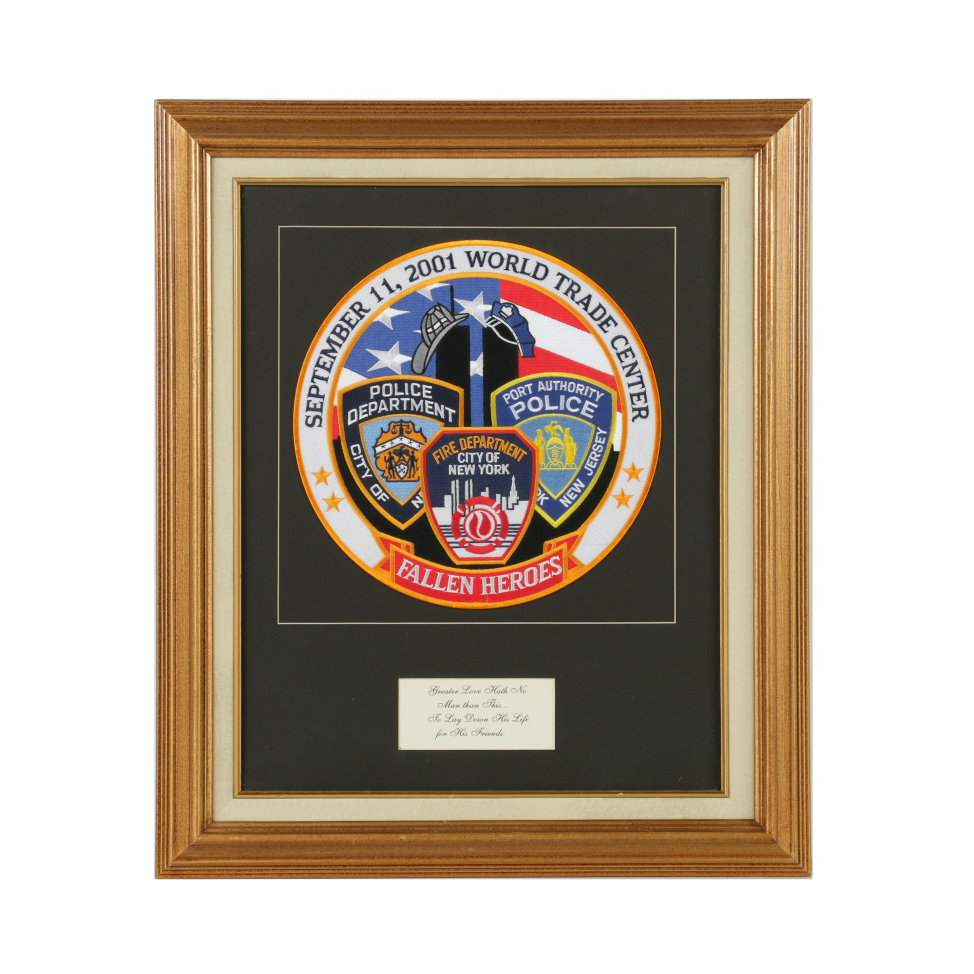 Embroidered Patch Commemorating Fallen Heroes of 9/11