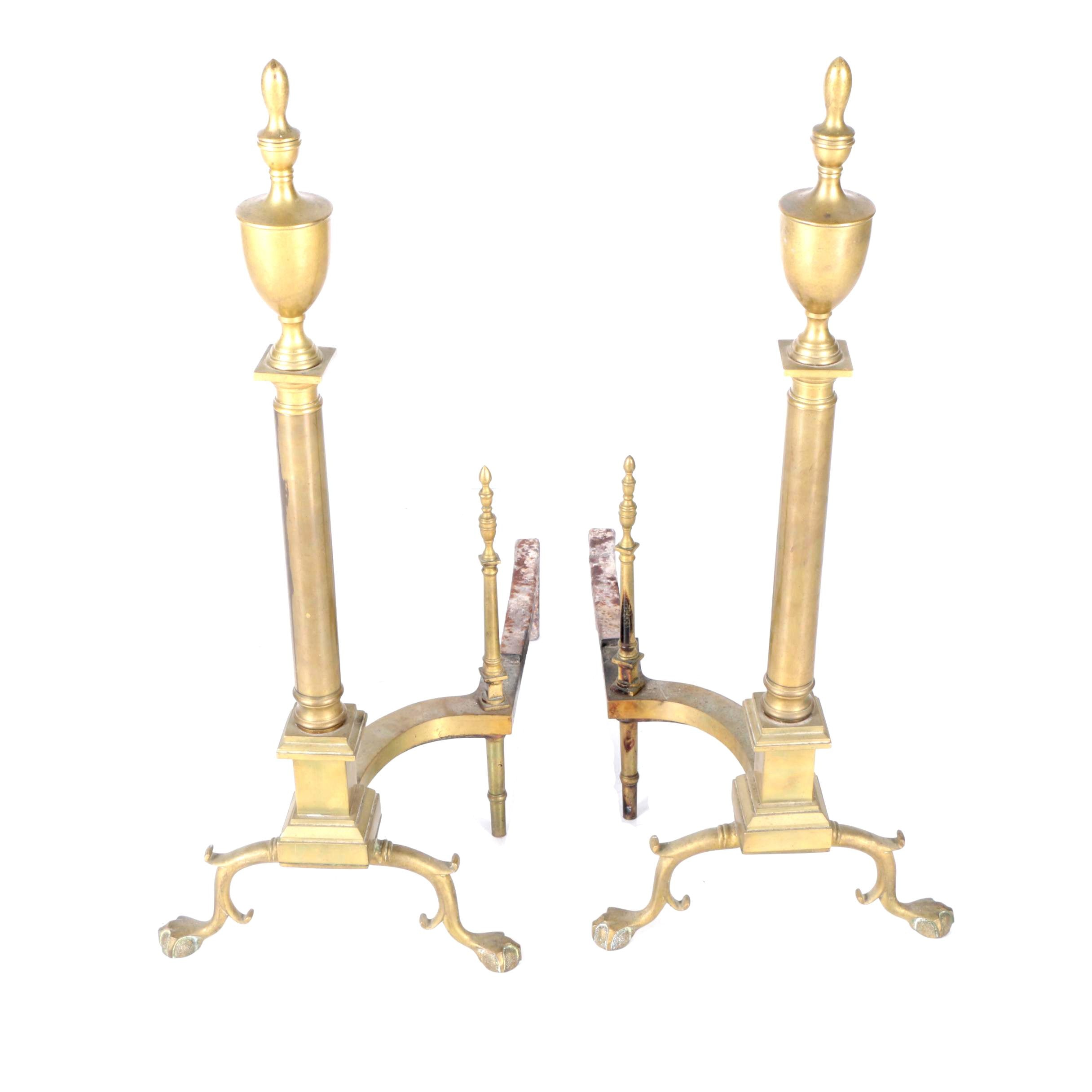 Federal Style Urn-Top Andirons