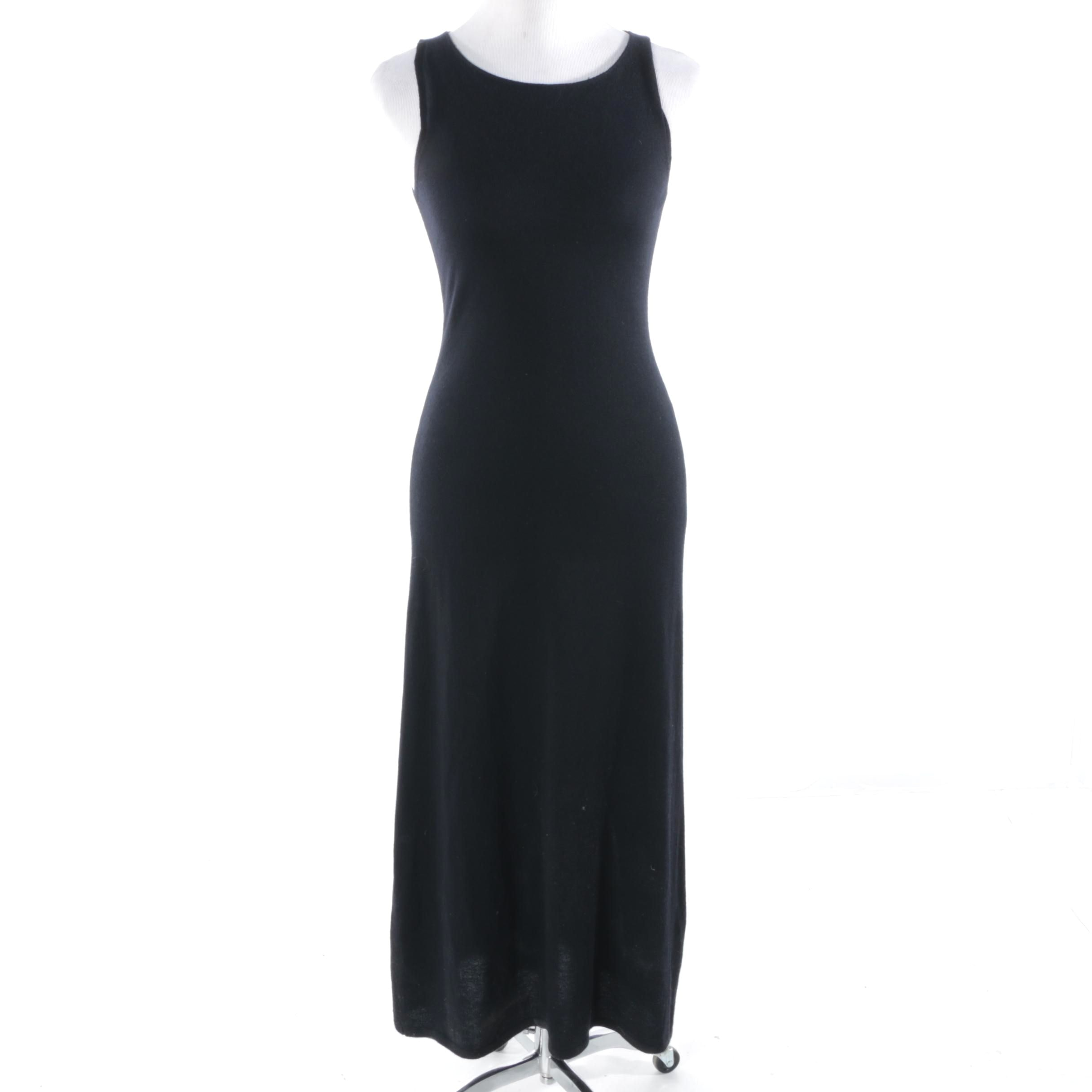 Yohji Yamamoto Black Cashmere Knit Sleeveless Dress, Made in Italy