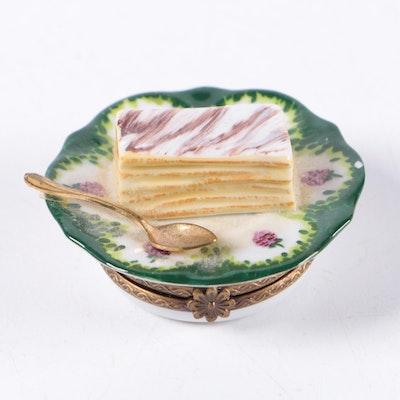 Parry Vieille Limoges Napoleon Pastry Trinket Box