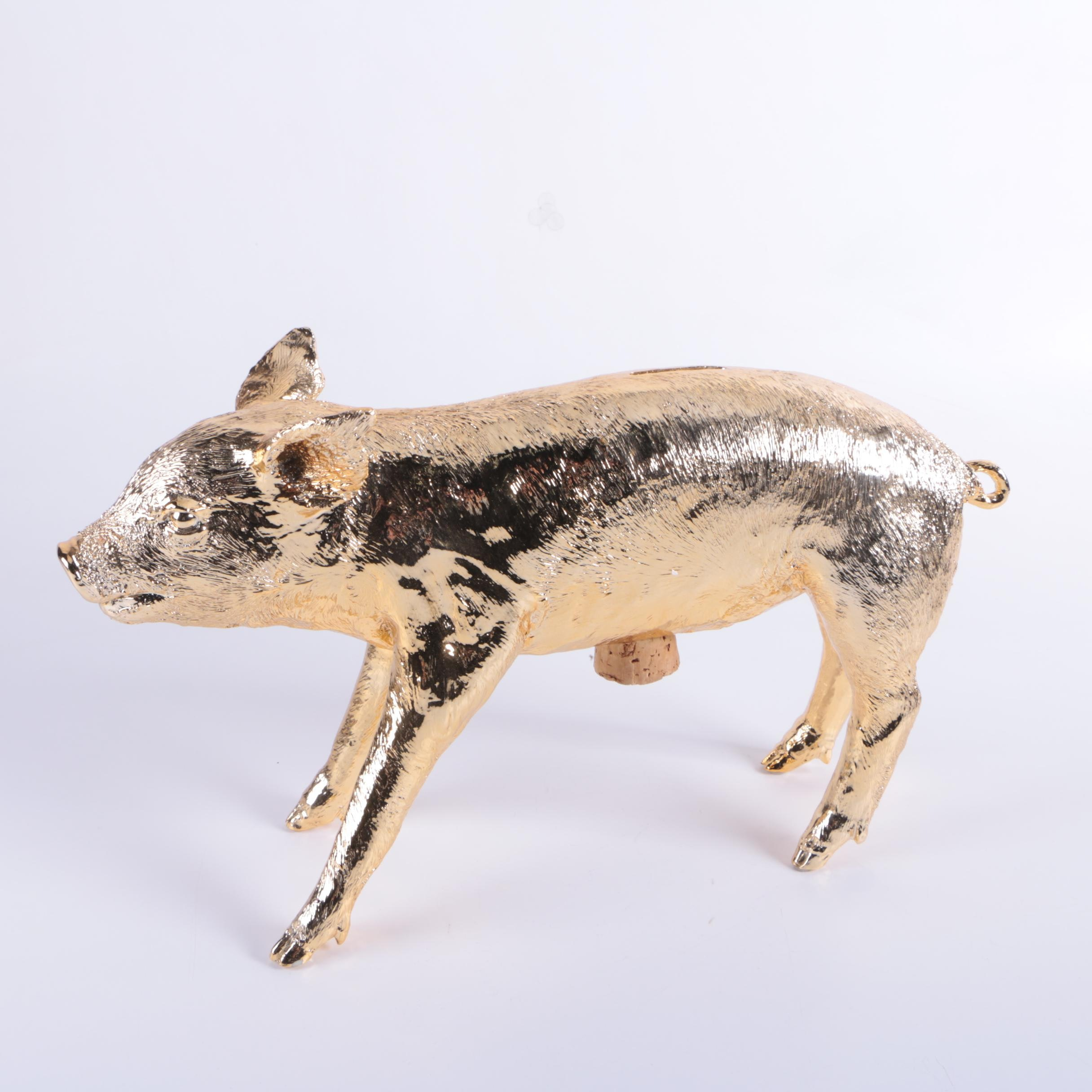 """Harry Allen Resin Sculpture """"Reality Bank in the Form of a Pig"""""""