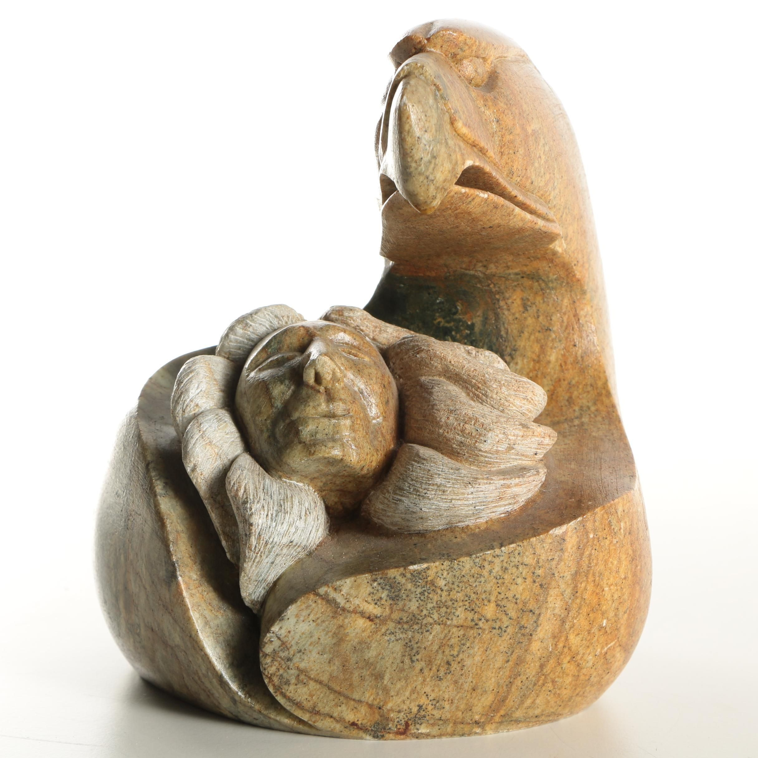 1997 Ben Henry Six Nations Soapstone Carving