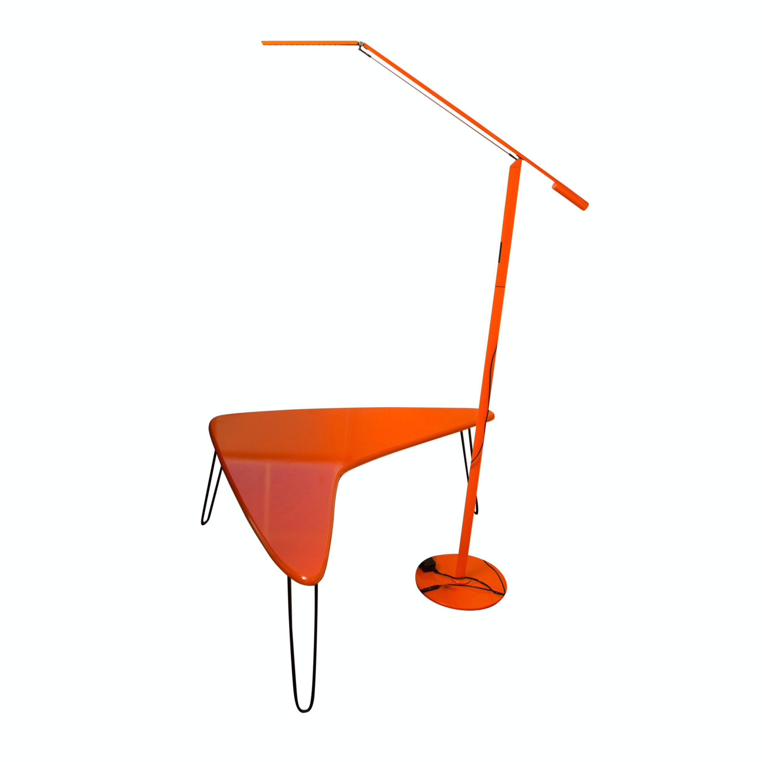 Lunar Lounge Boomerang Table and Koncept Floor Lamp