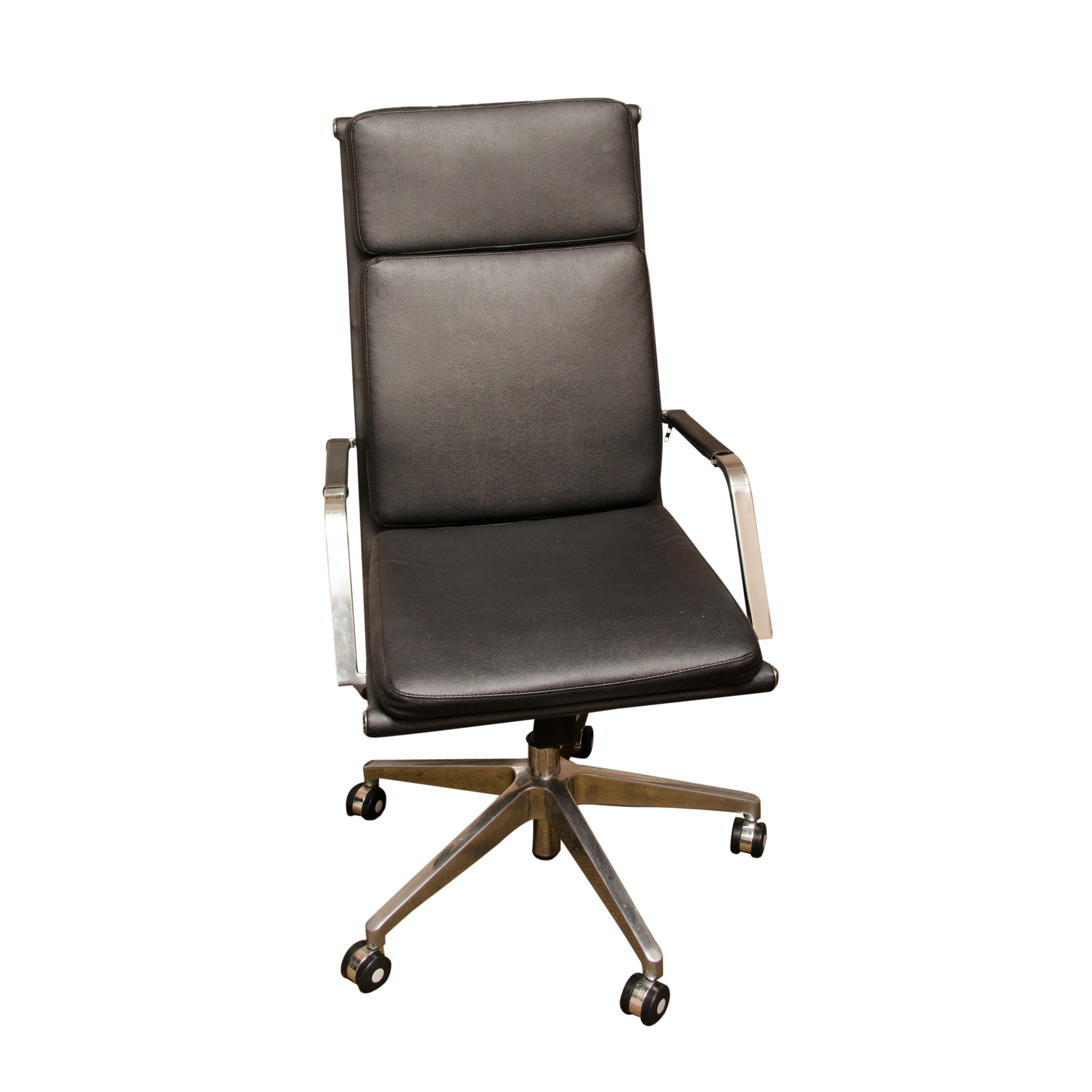 Contemporary Faux Leather Rolling Office Chair by Jesper Office