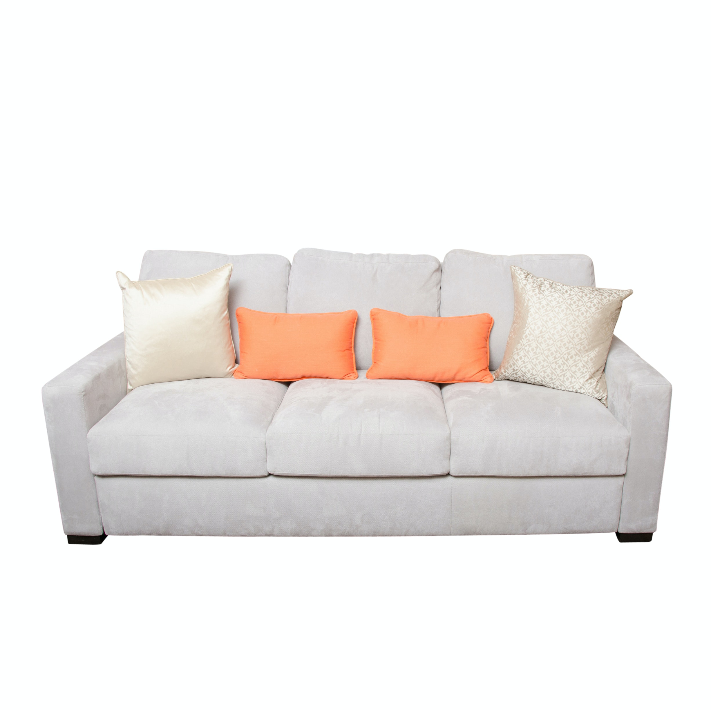Light Grey Upholstered Sleeper Sofa by American Leather
