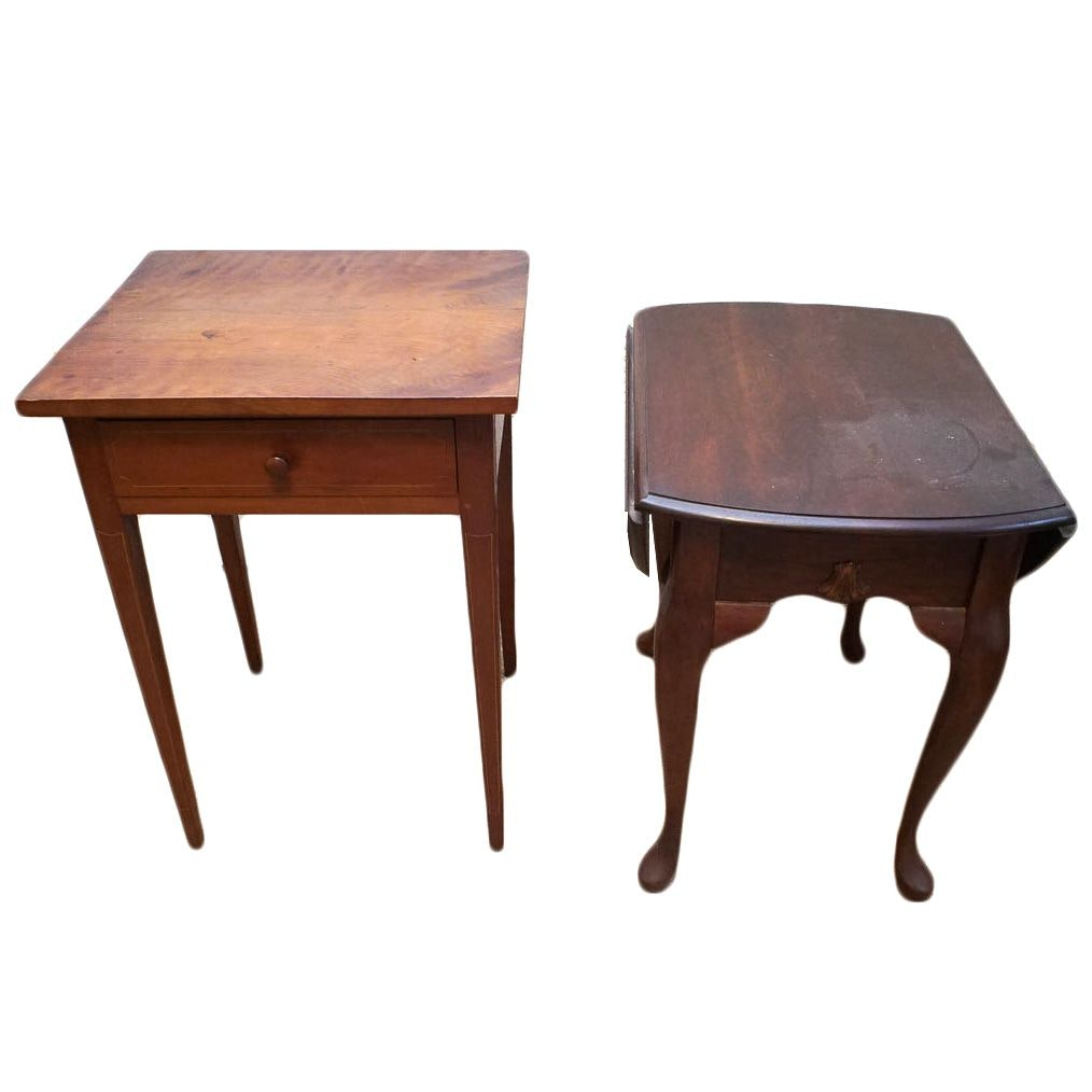 Wooden Side Tables with Drawer
