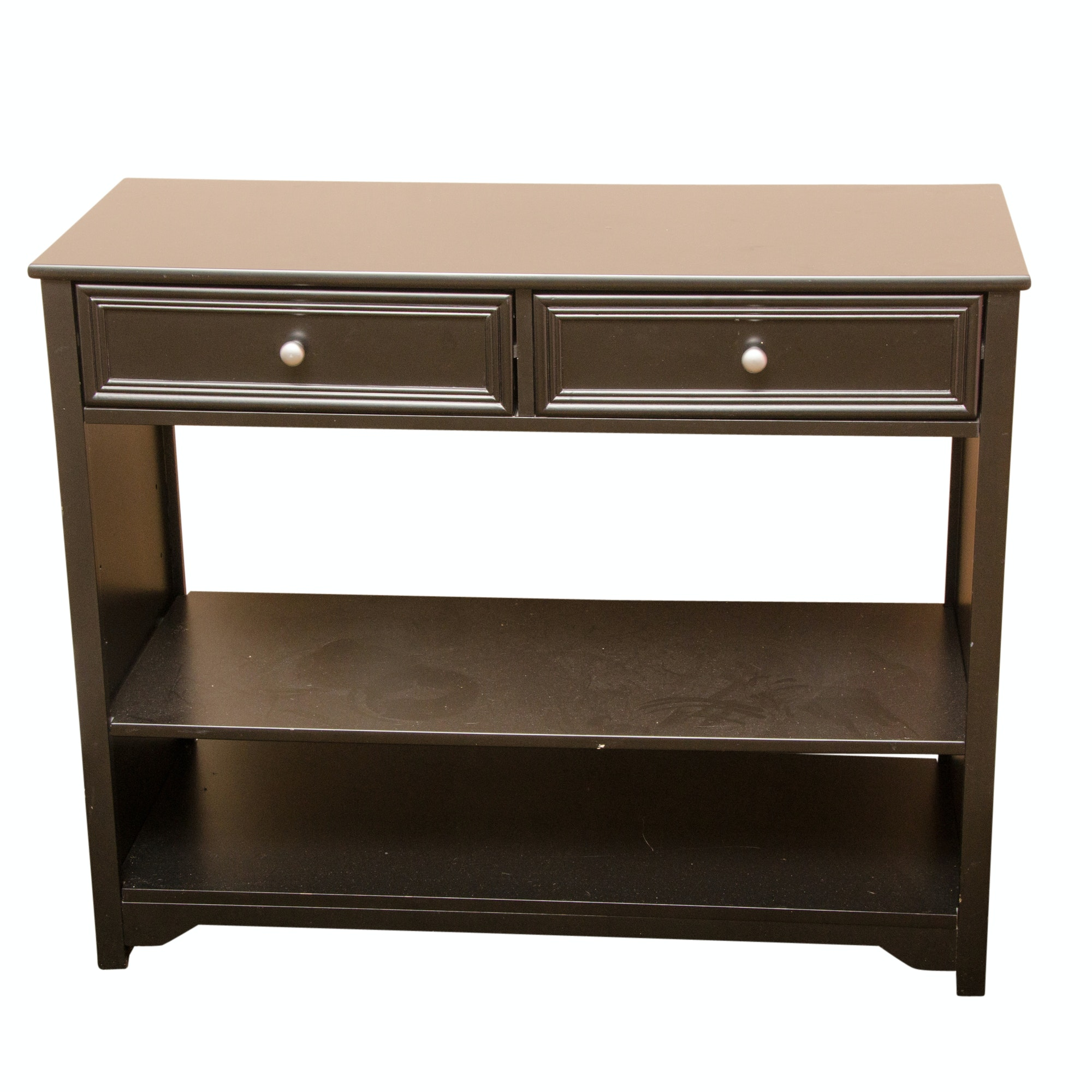 Contemporary Dark-Finished Console Table