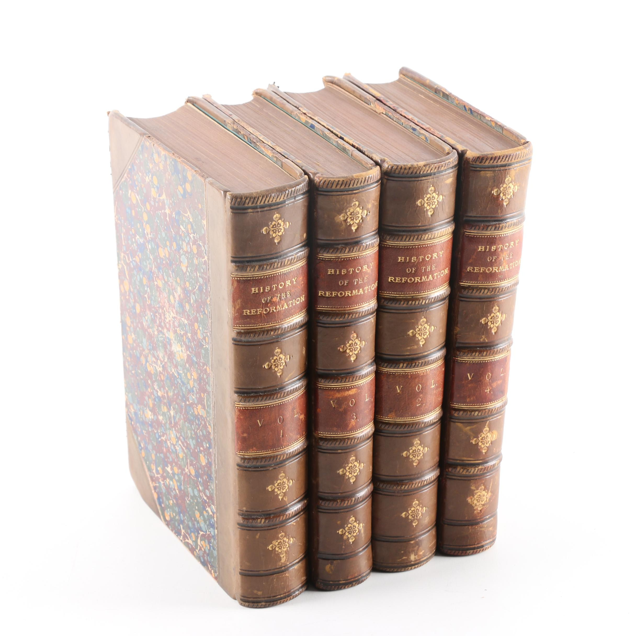 """1853 """"History of the Reformation"""" Complete Set by Jean-Henri Merle d'Aubigné"""