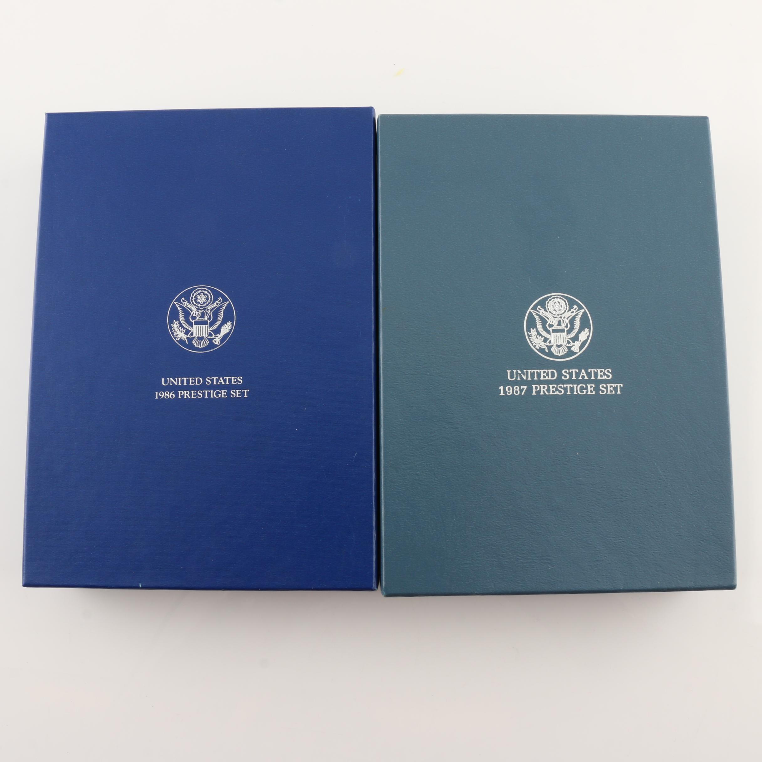 1986 and 1987 U.S. Mint Prestige Sets