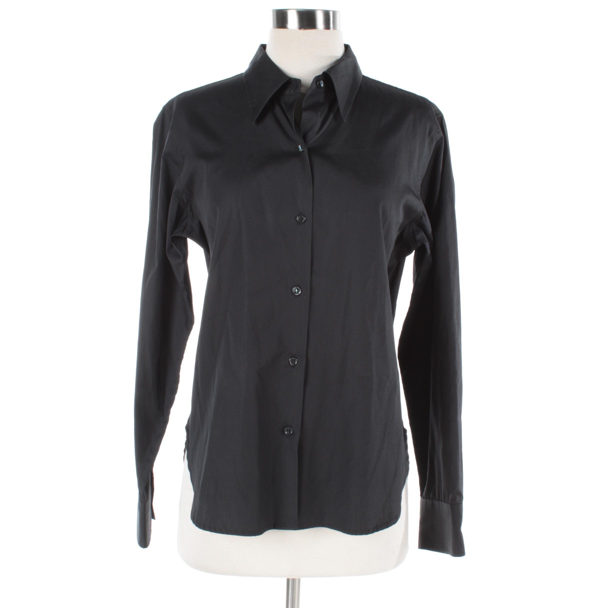 Women's Agnes B. Black Button-Up Shirt