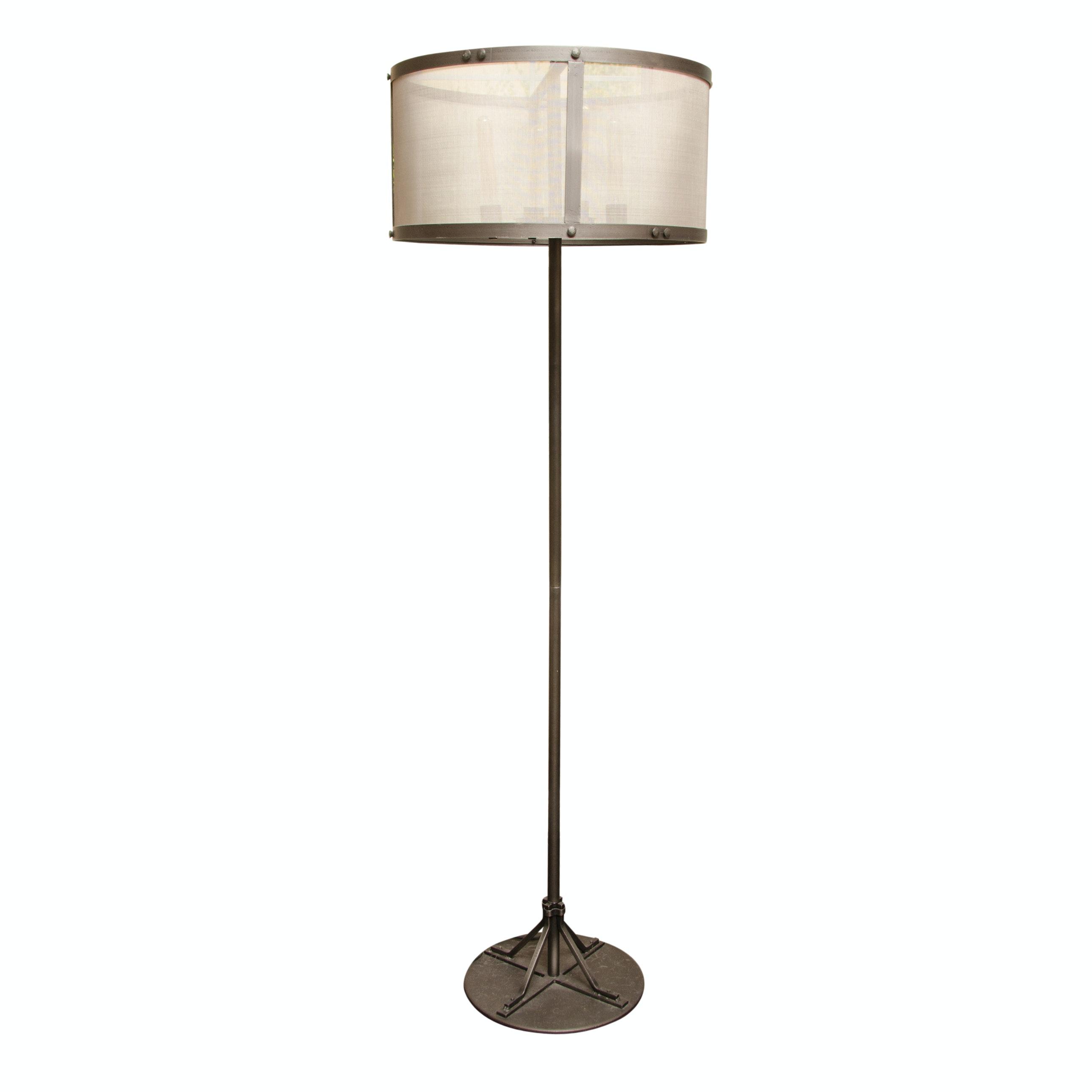 Bronze Tone Metal Floor Lamp