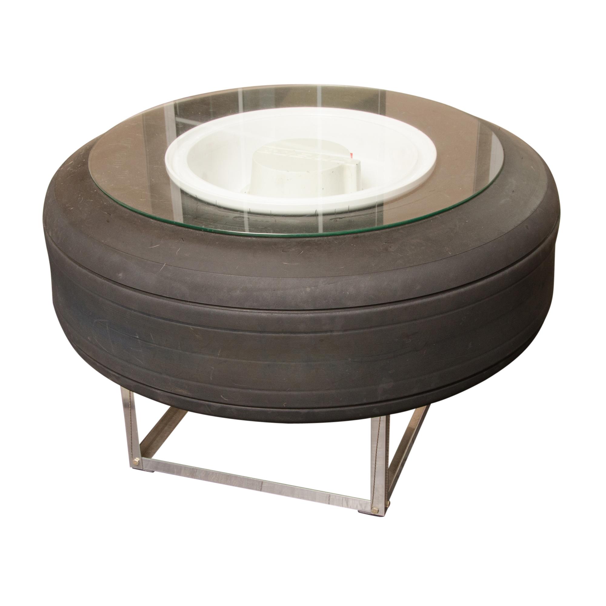 Repurposed Boeing Airplane Tire Coffee Table EBTH