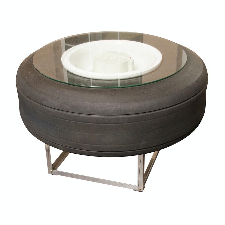 Repurposed Boeing Airplane Tire Coffee Table : EBTH