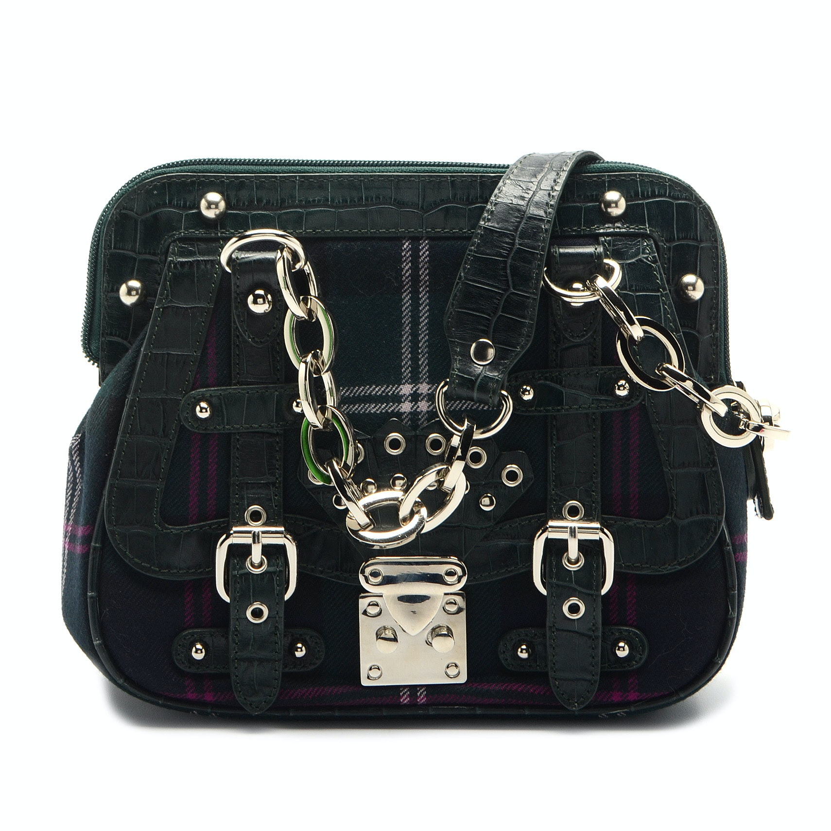 Carlisle Green Plaid Handbag
