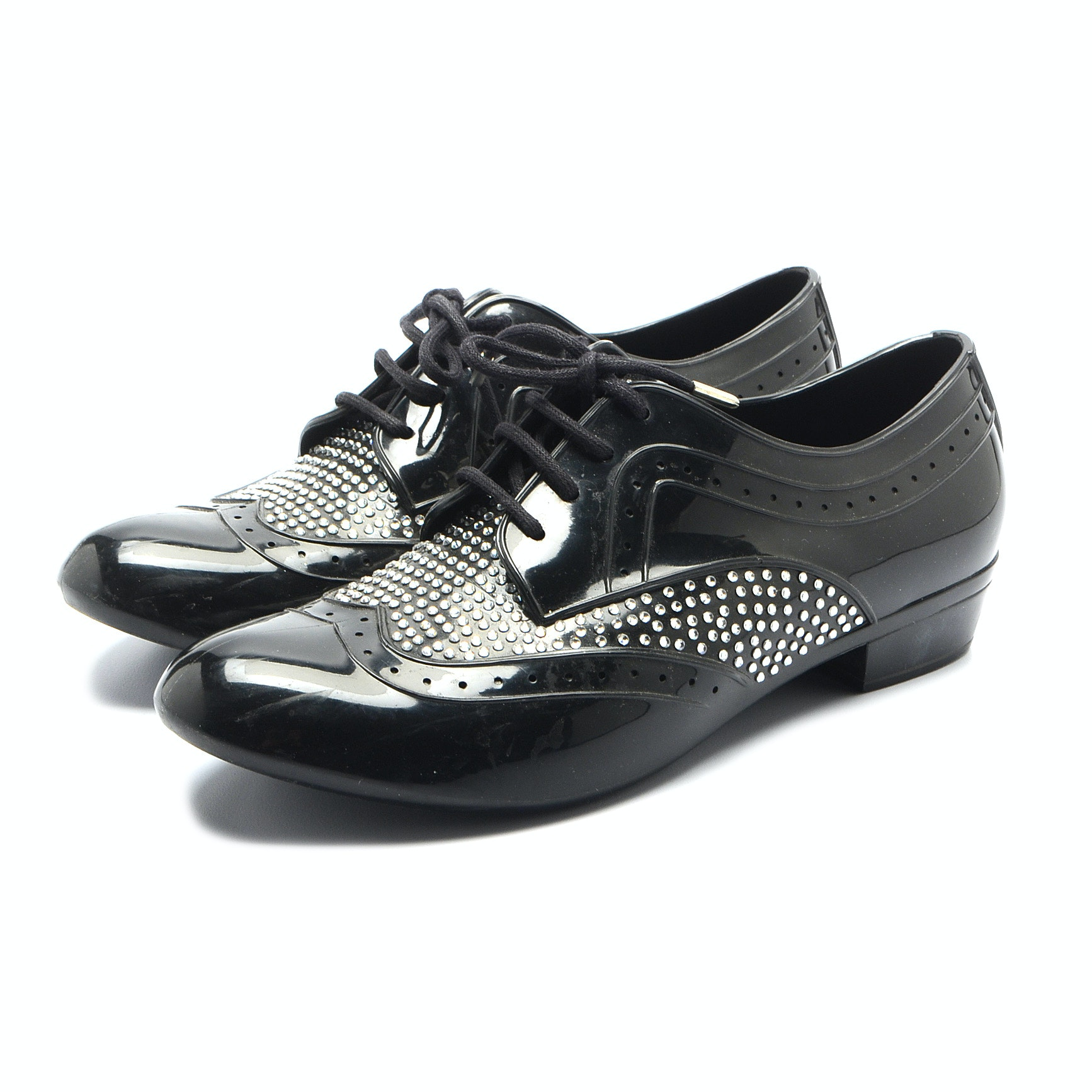 J. Maskrey for Melissa Couture Black Recycled PVC Oxfords