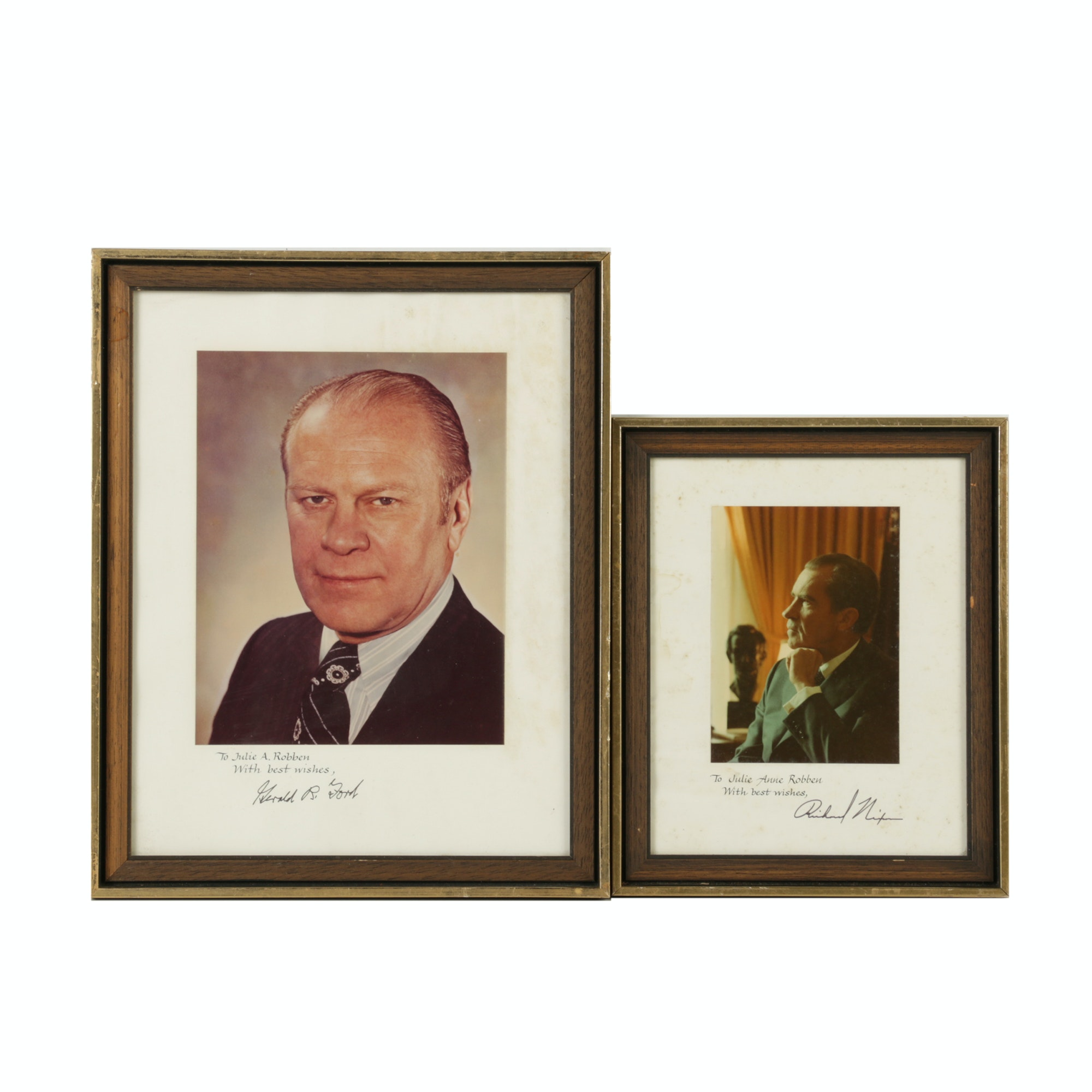Photographs of U.S. Presidents Nixon and Ford