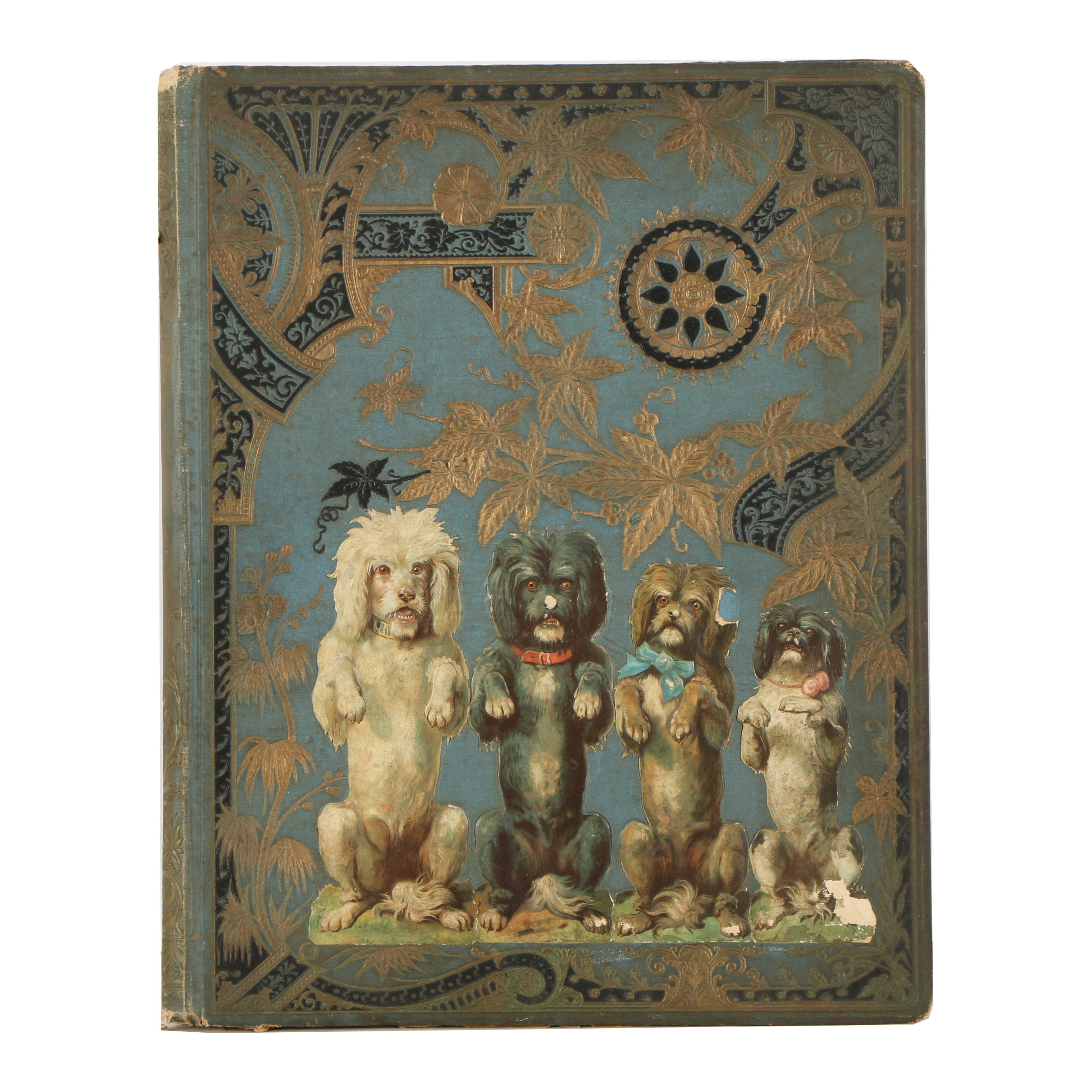 Scrapbook of Vintage Chromolithographs and Halftone Prints