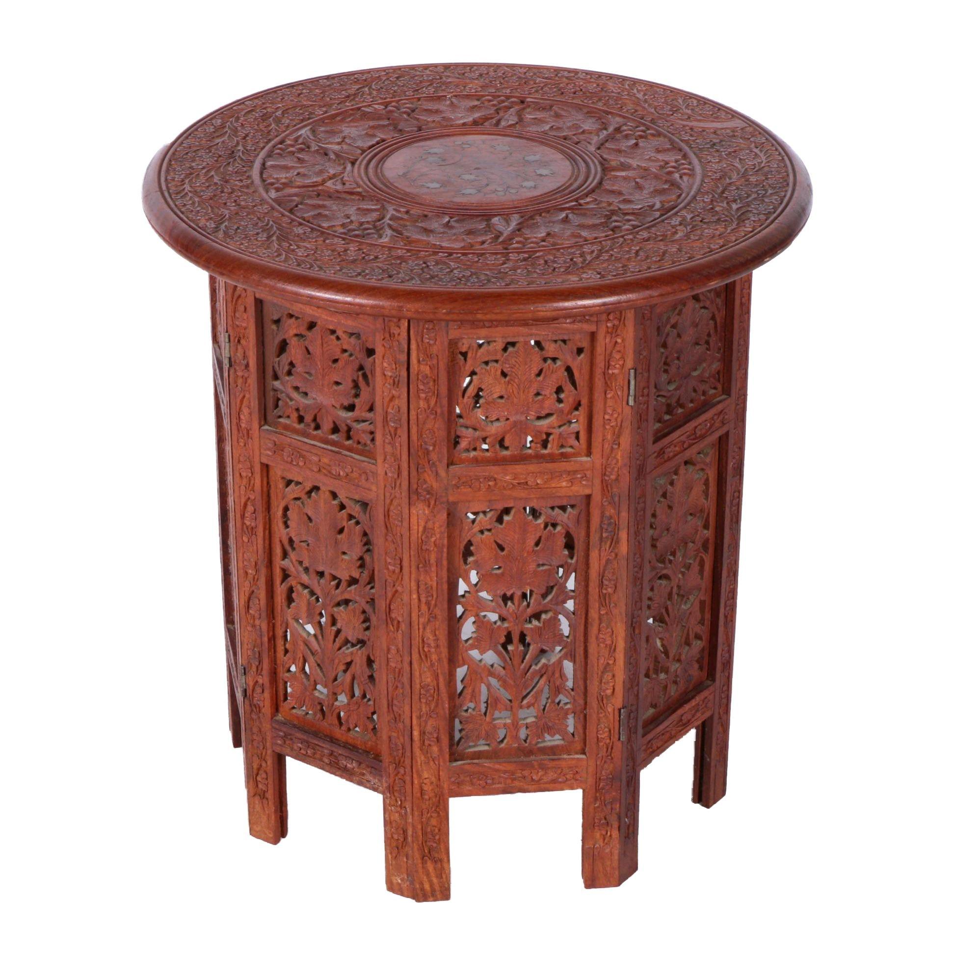 Carved Indian Teak Table