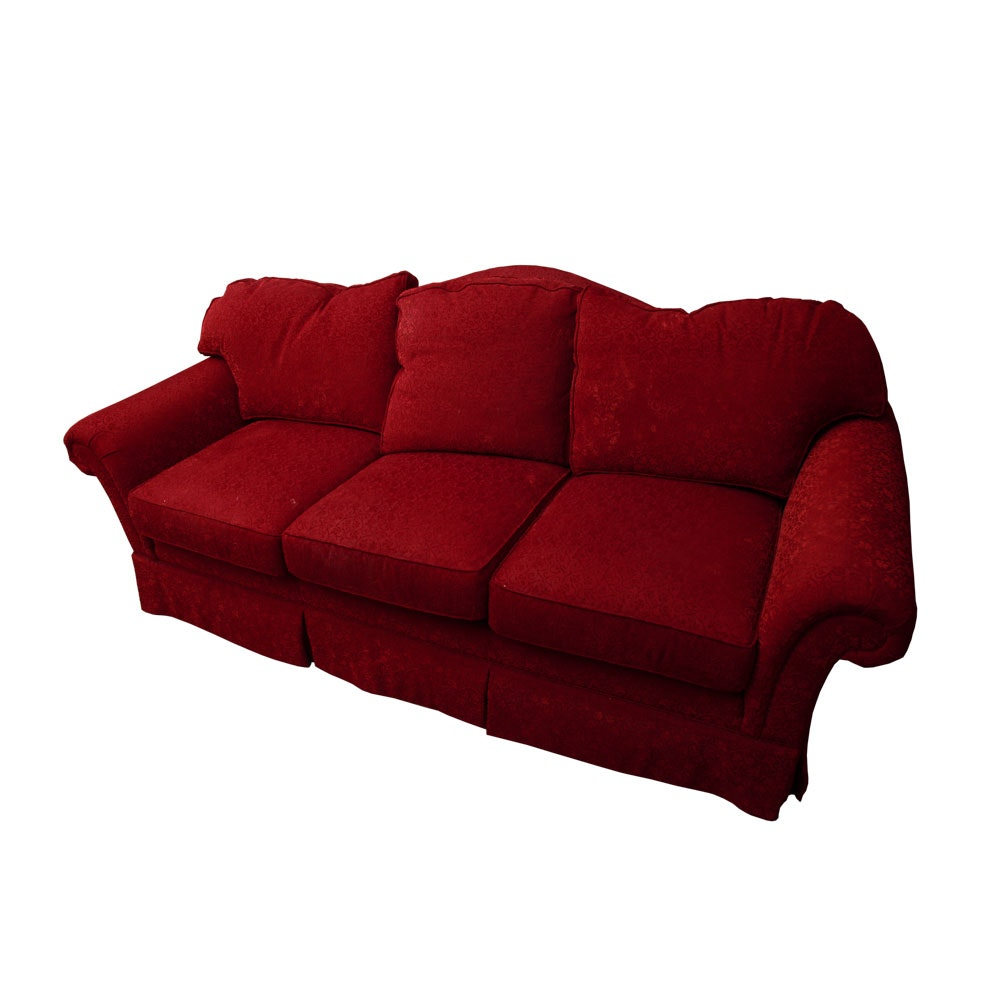 Beau Red Upholstered Sofa By Cameron Hall ...