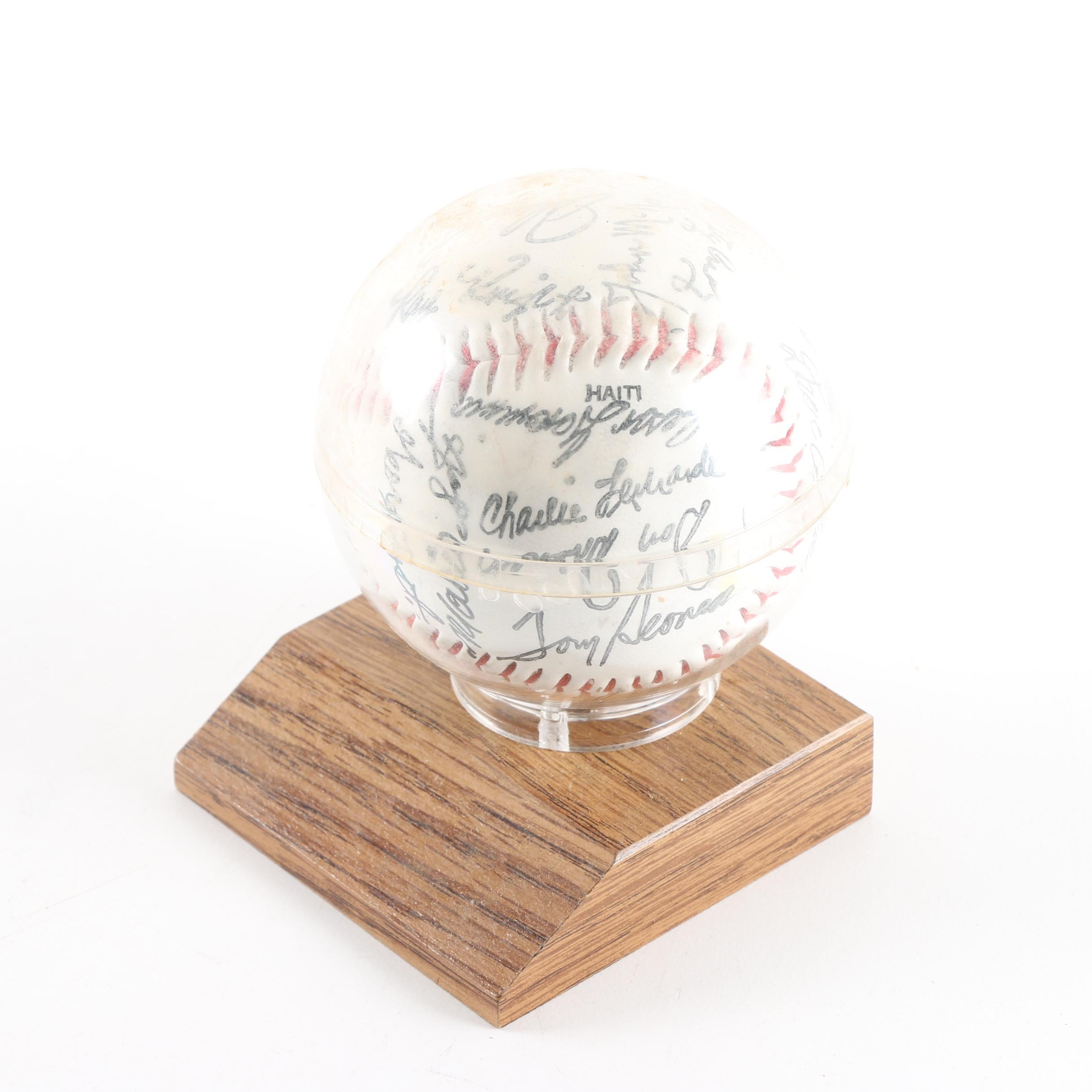 1979 Cincinnati Reds Team Signature Stamped Baseball