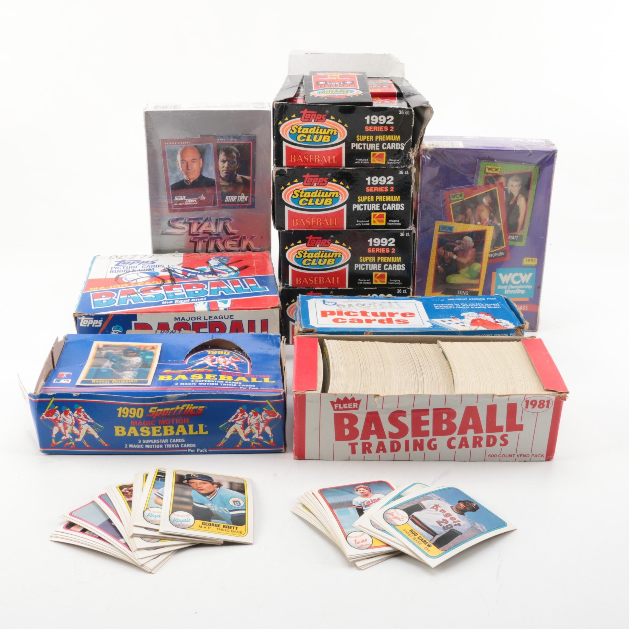 """1980s-1990s Trading Cards Including """"Star Trek"""", Wrestling, and Baseball"""