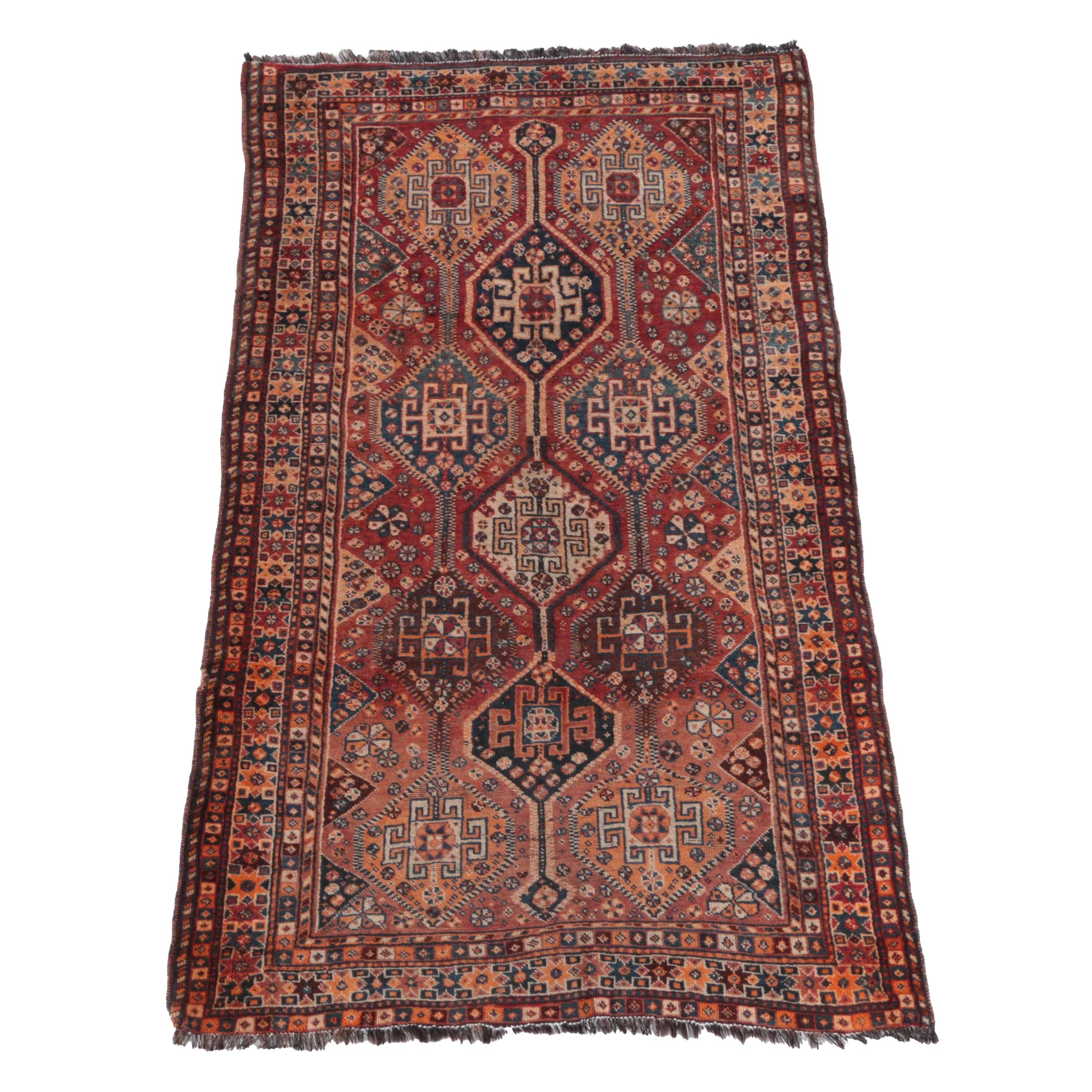 Hand-Knotted Persian Luri Wool Area Rug