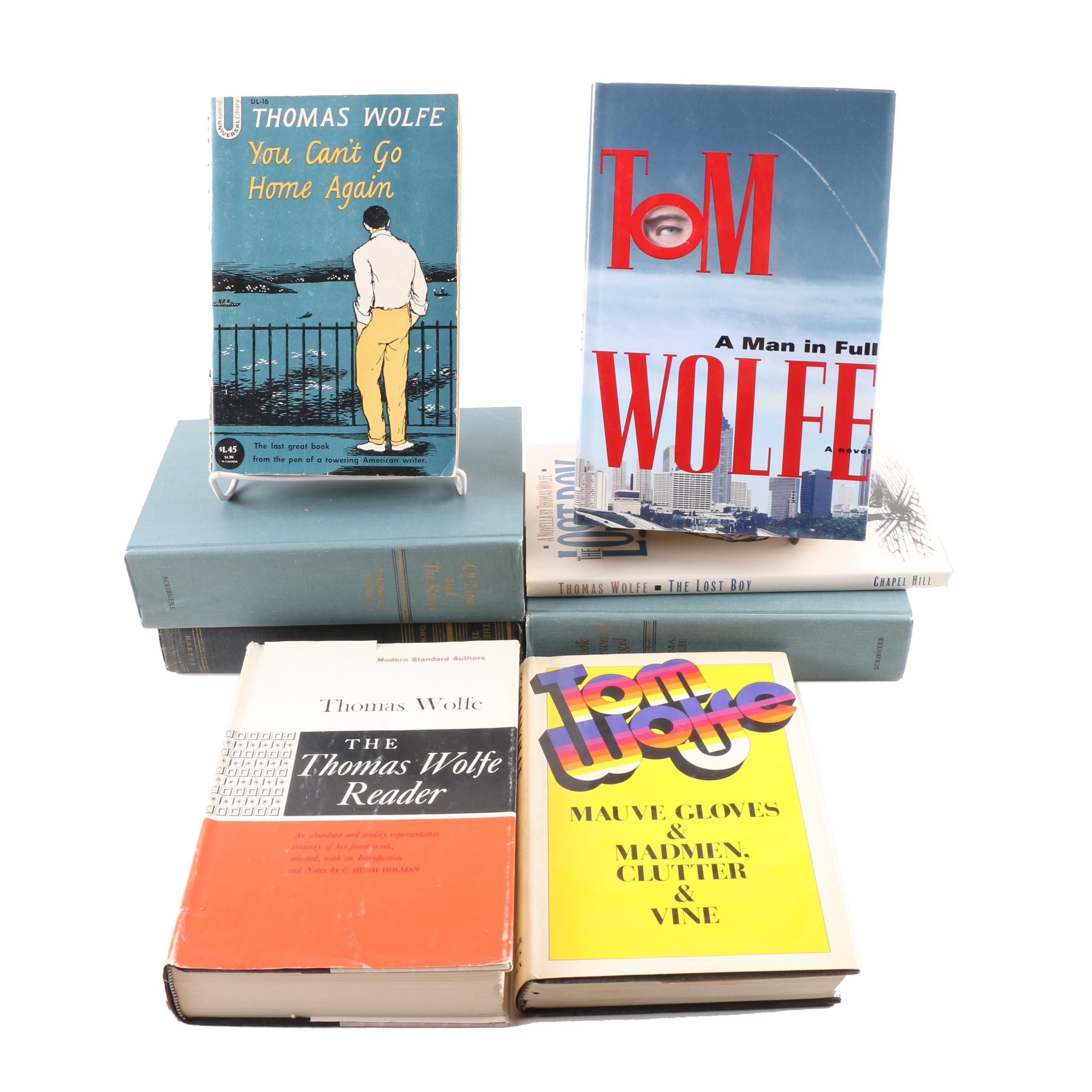 Thomas Wolfe and Tom Wolfe Books