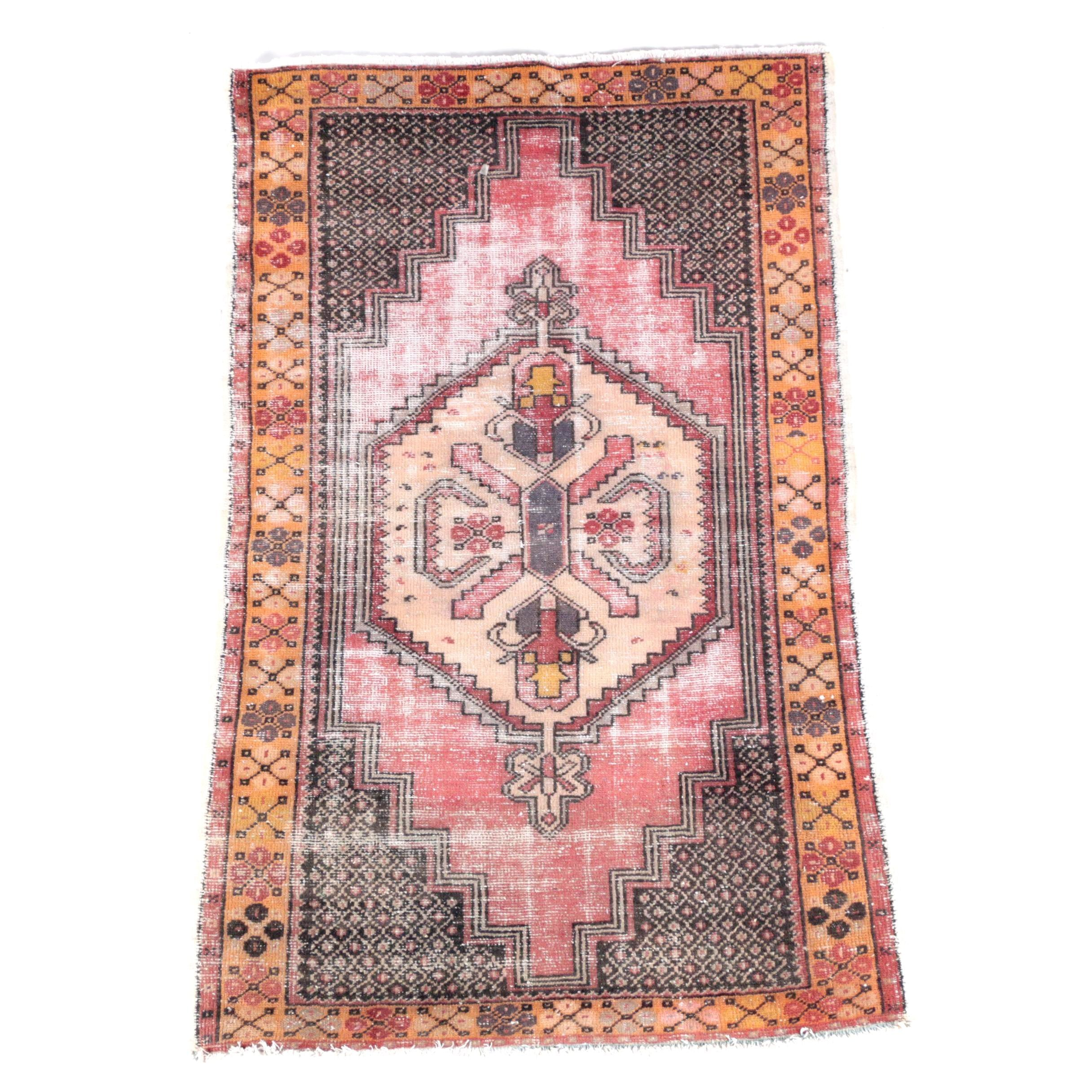 Semi-Antique Hand-Knotted Anatolian Wool Area Rug