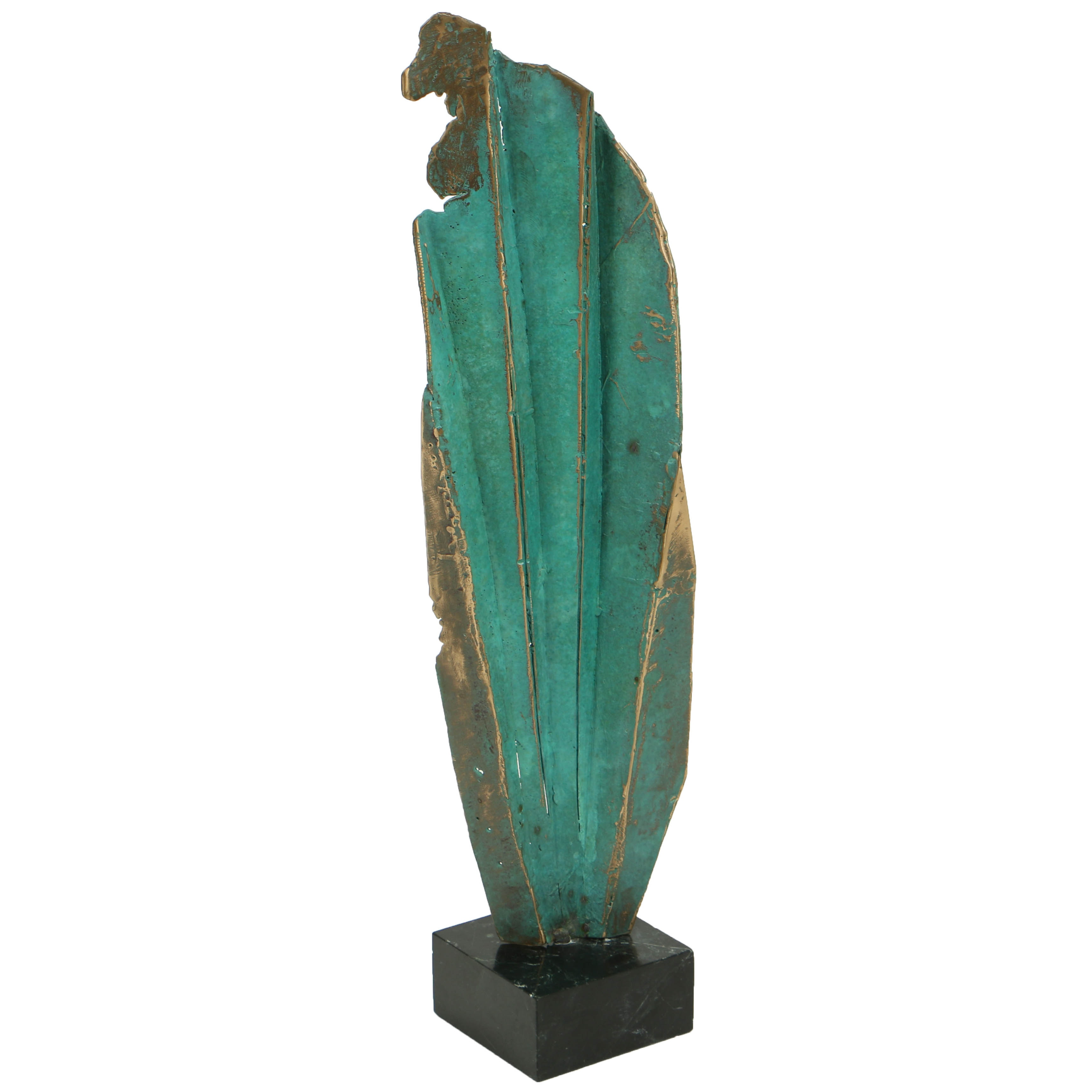 Contemporary Bronze Sculpture on Marble Base