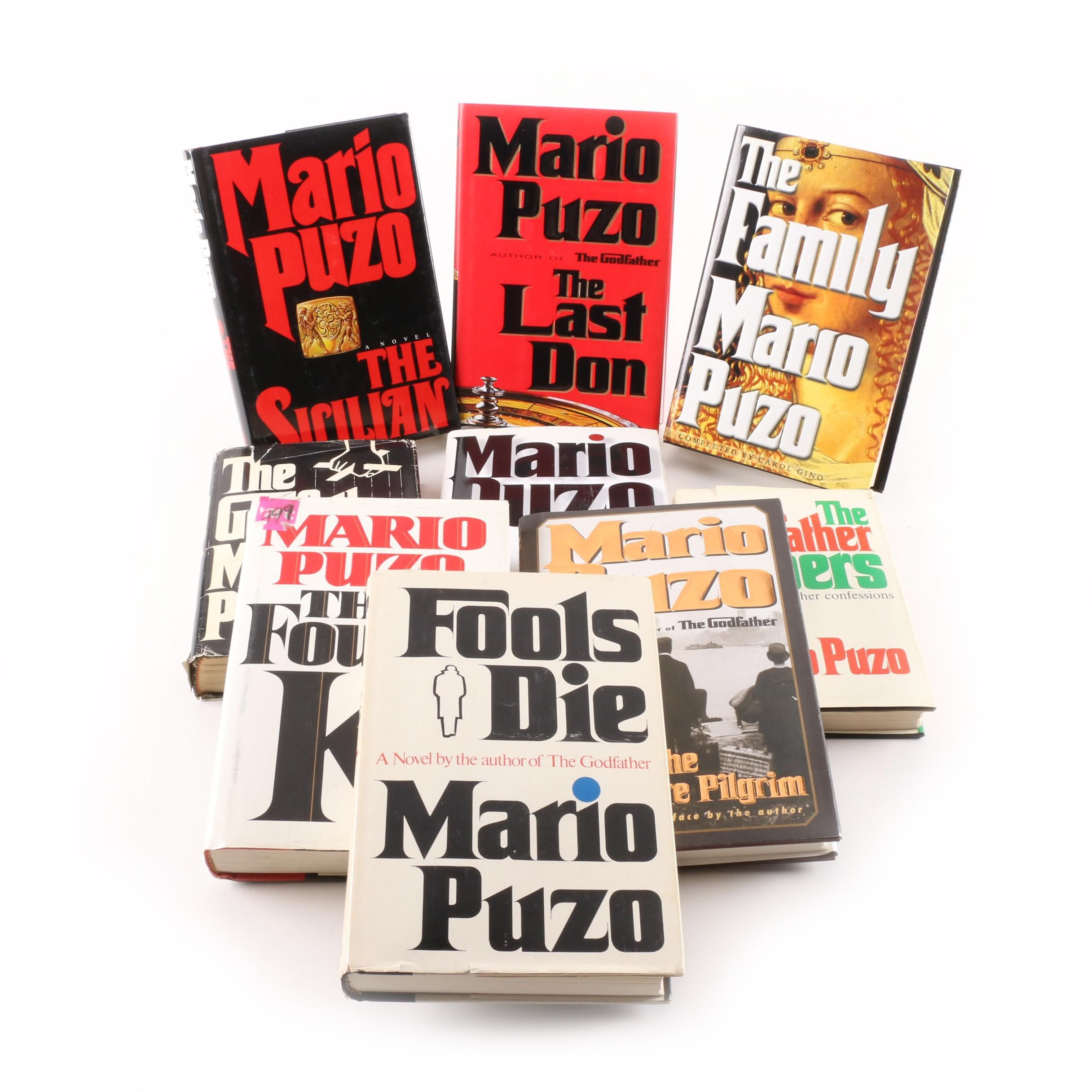 """Mario Puzo Books Including First Edition """"The Last Don"""""""