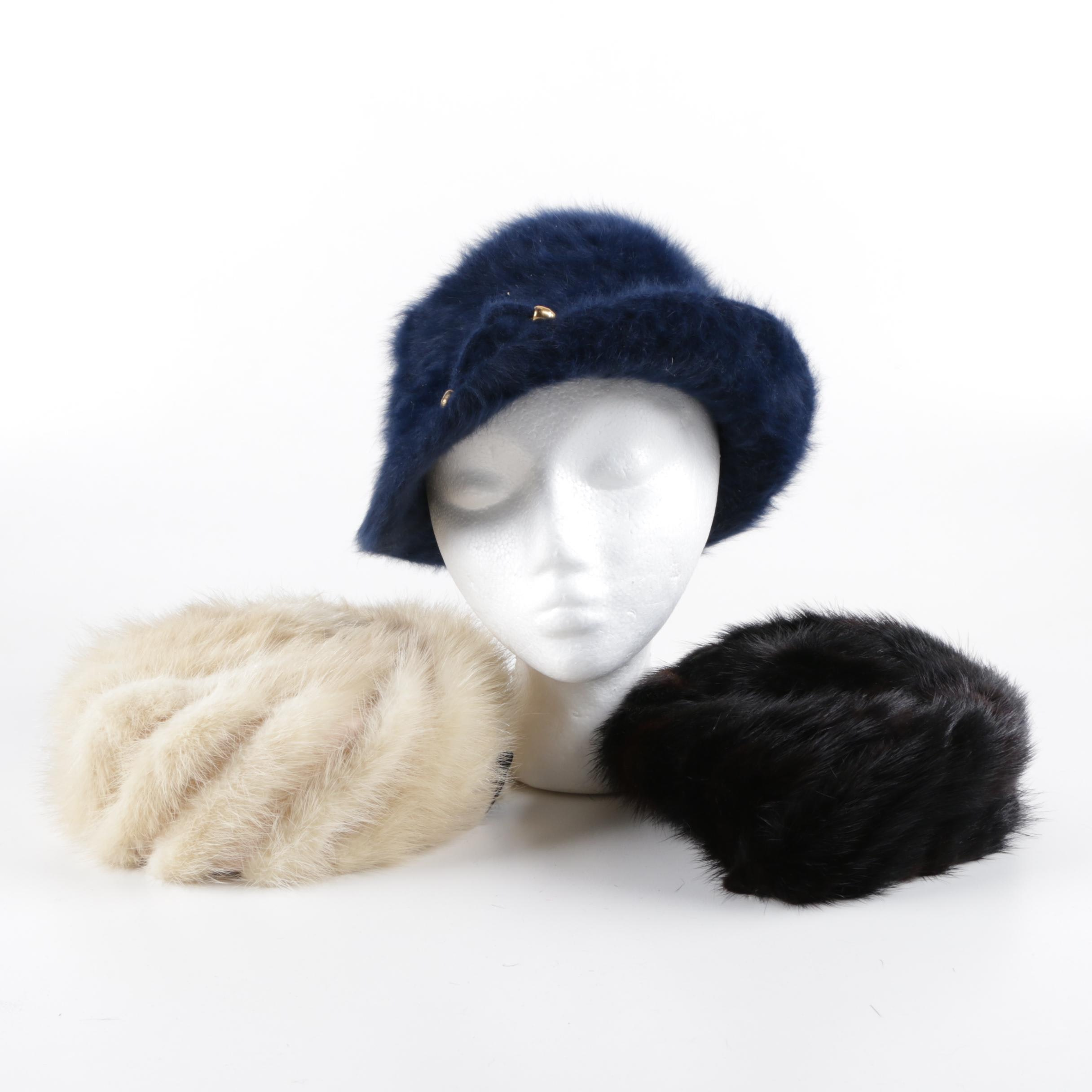 Kangol Angora Rabbit Hair and Mink Fur Hats