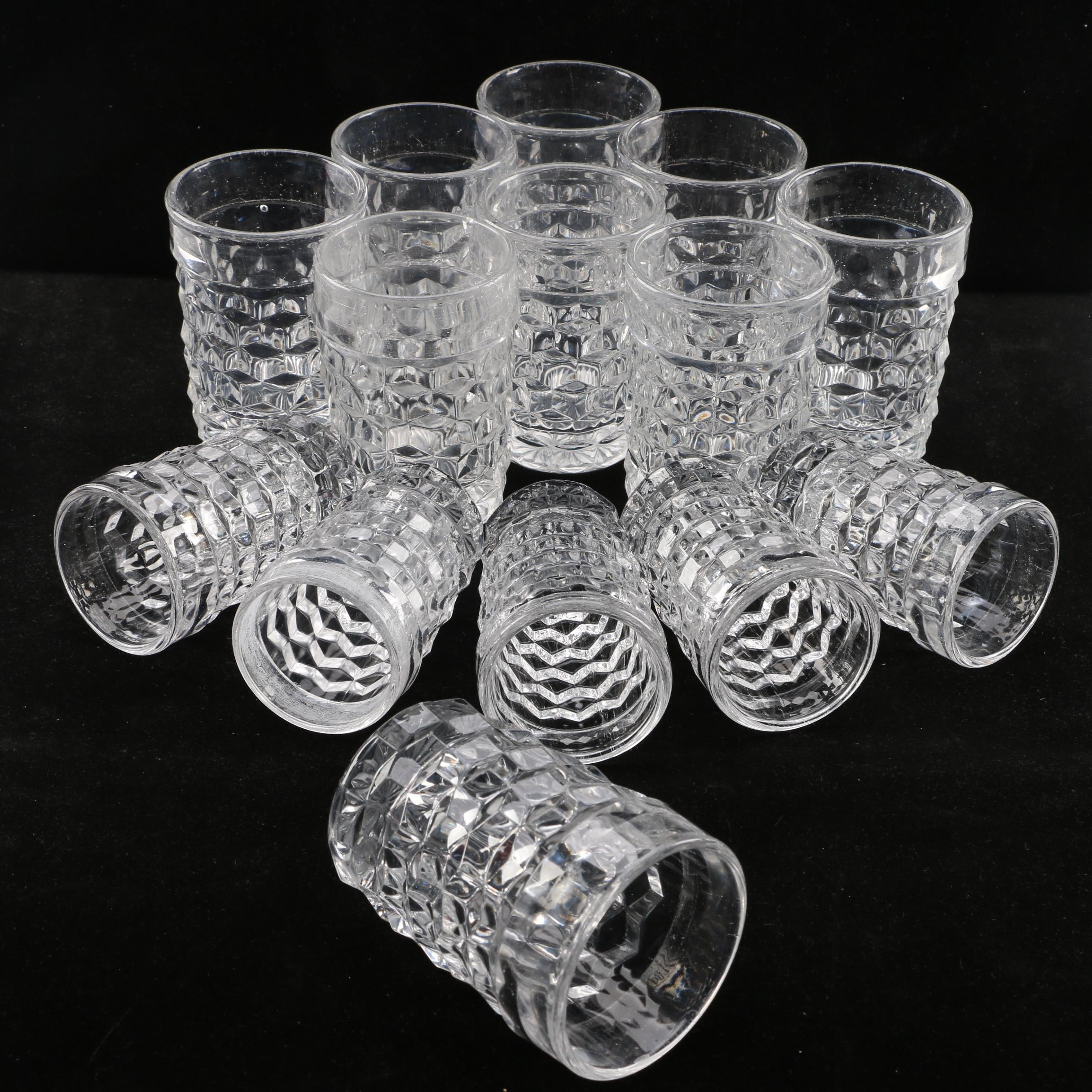 "Imperial Glass-Ohio ""Diamond Point"" Tumblers"