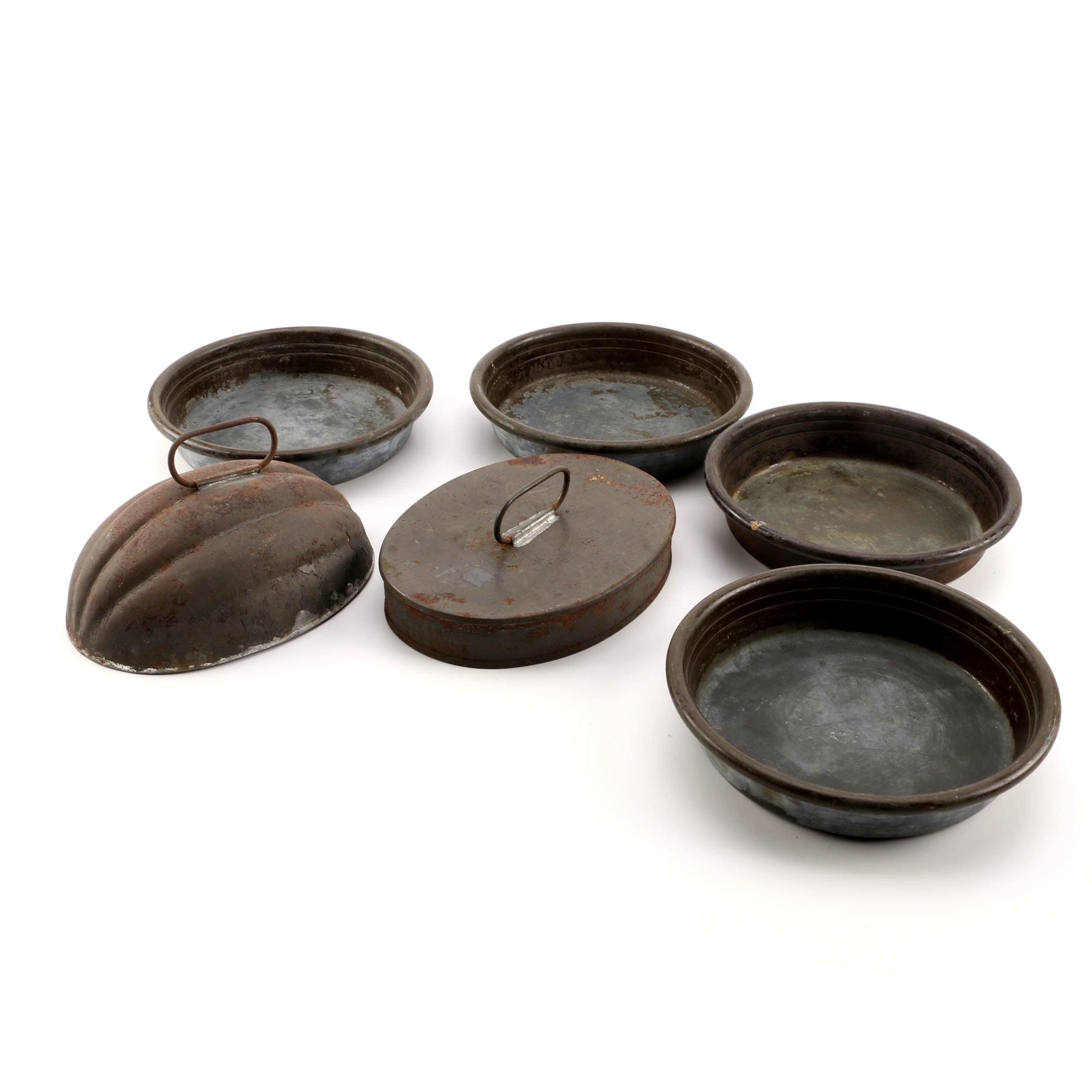 Collection of Metal Pans and Lids