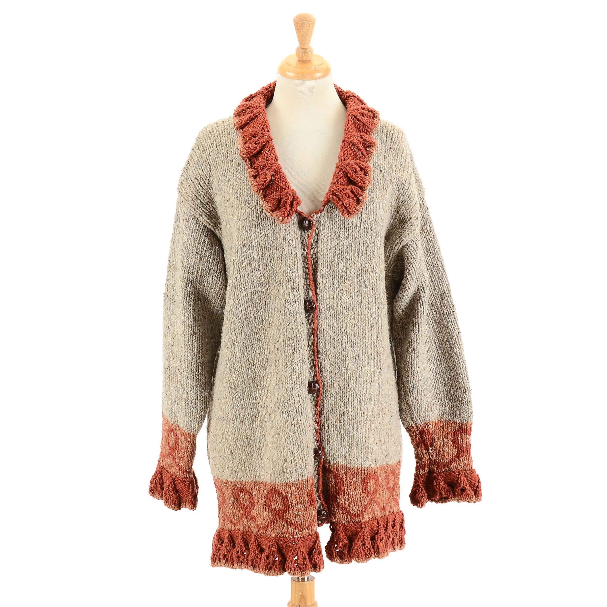 Snamara Irish Wool Jacket Sweater