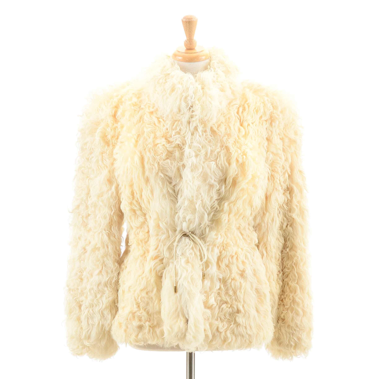 Women's Vintage Curly Lamb Coat
