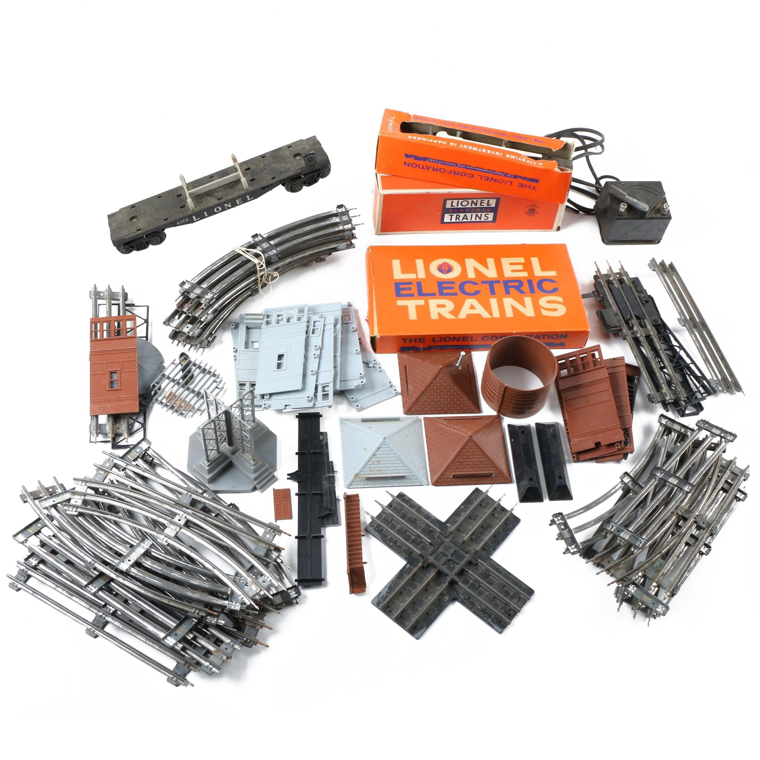 Lionel Train Accessories Including U.S. Navy Rocket