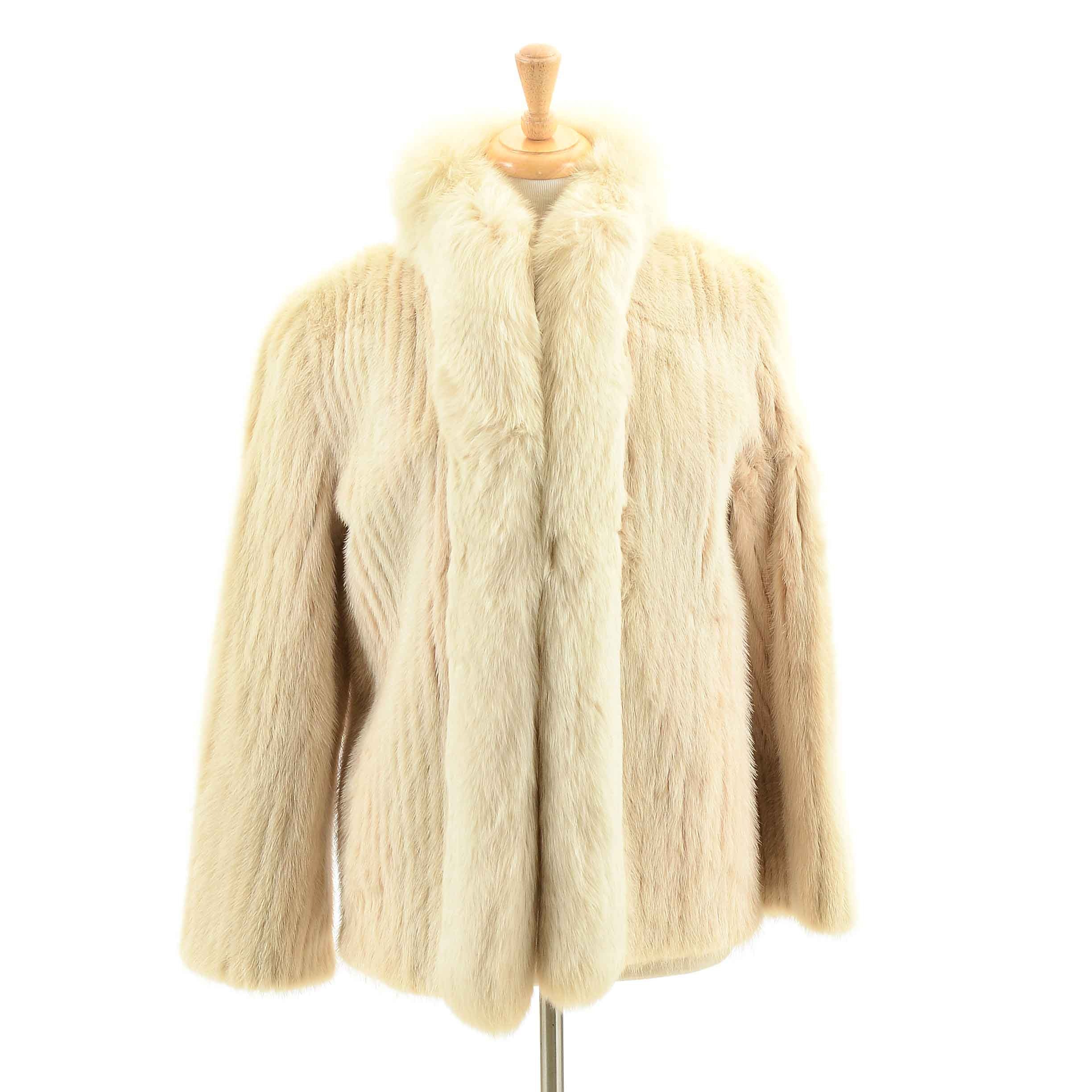 Vintage Fox and Mink Fur Coat