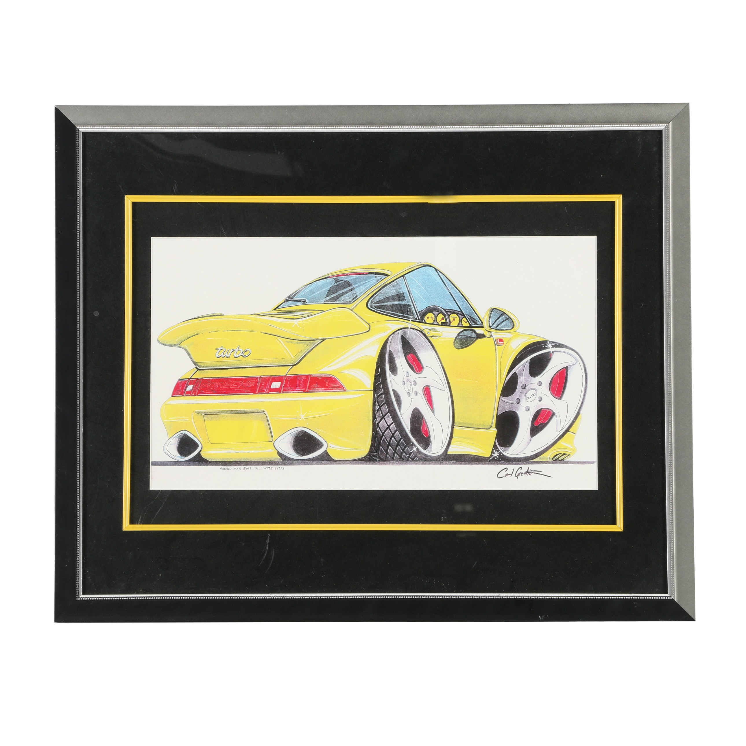 "Giclee Print After Carl Greatrix From ""Cartoon Cars"" Series"
