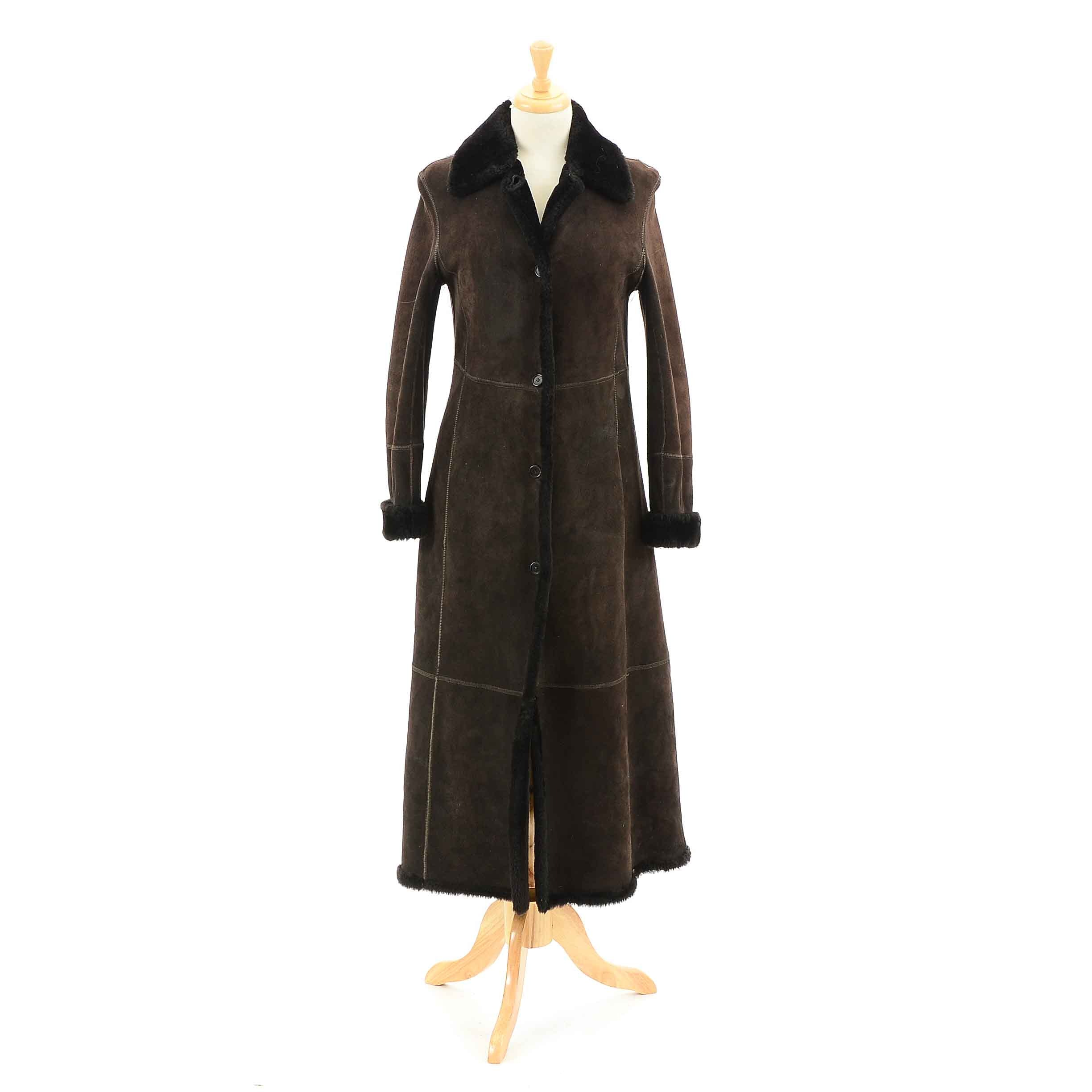 Women's Searle Brown Shearling Coat