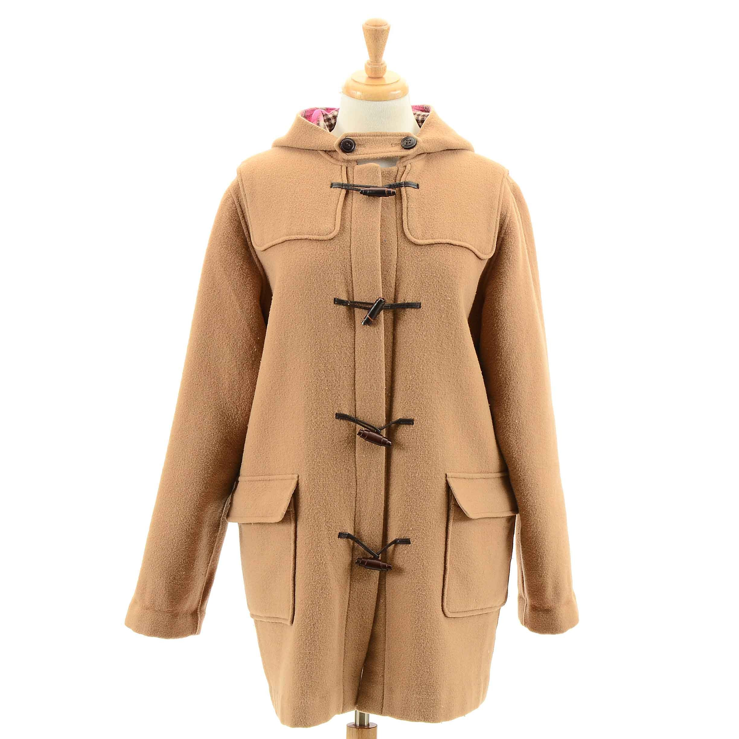 Lilly Pulitzer Tan Wool Blend Duffle Coat