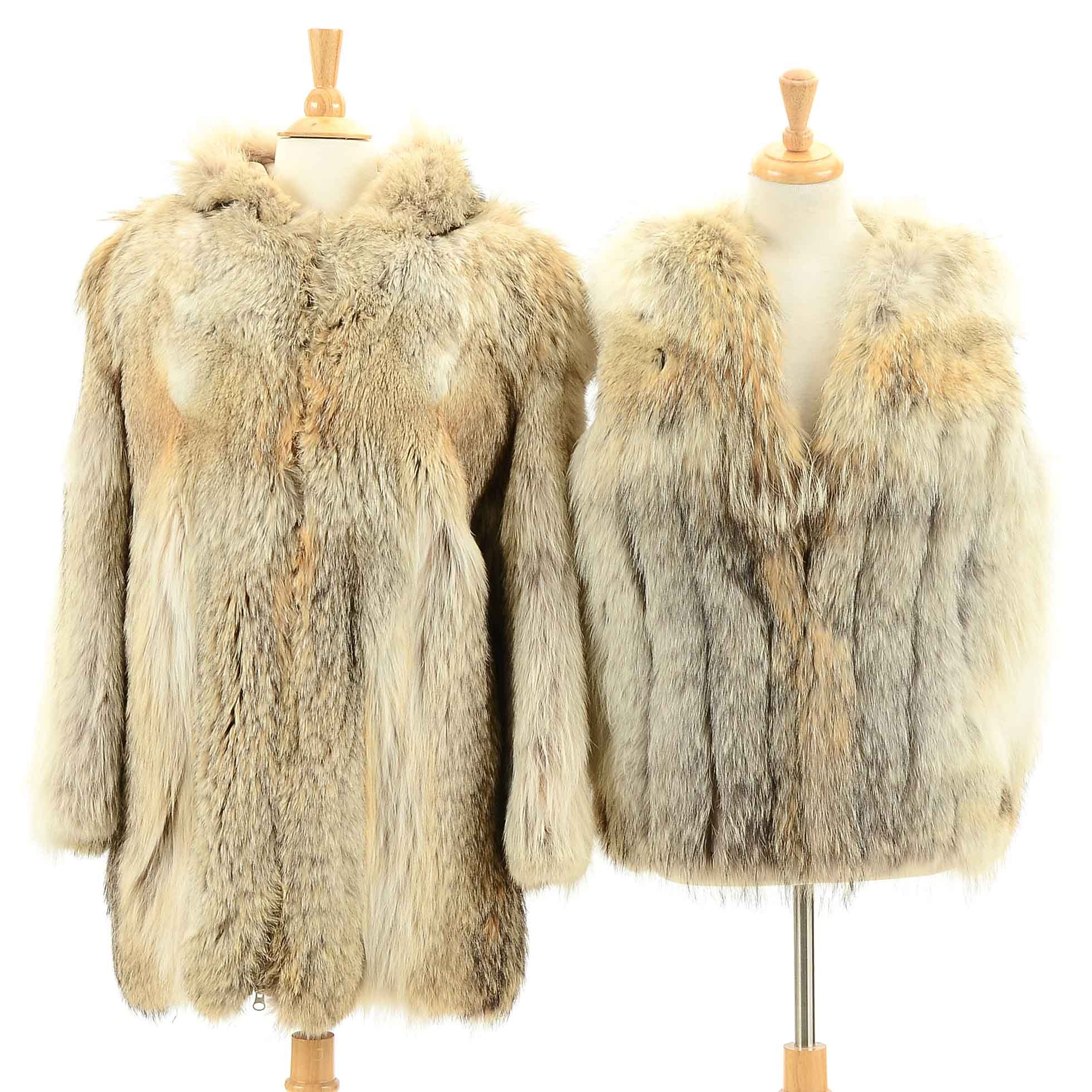 Vintage Coyote Fur Coat and Vest