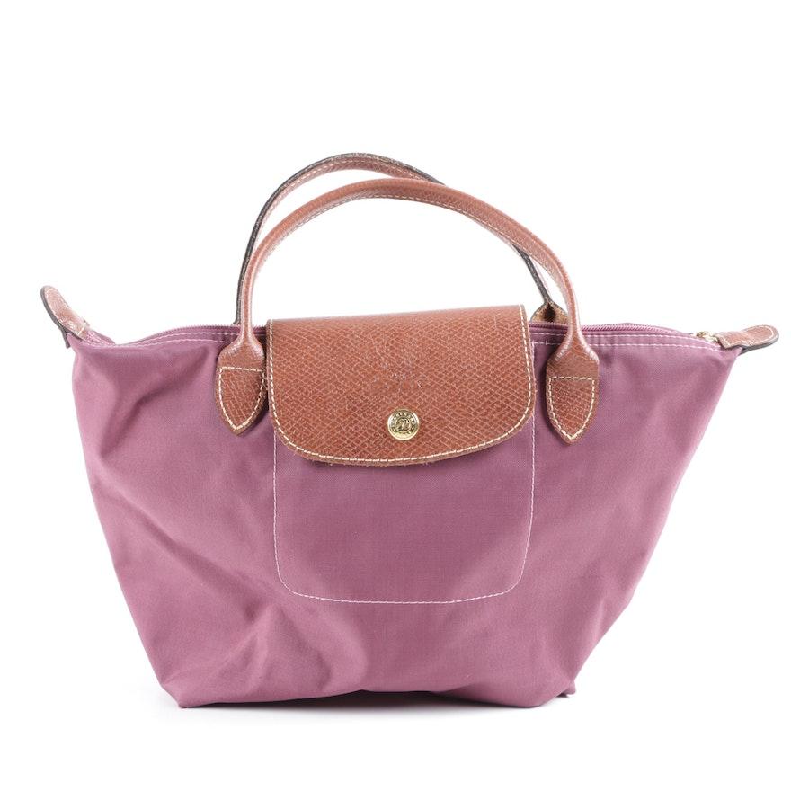 81d135fe5e Longchamp Le Pliage Small Nylon and Leather Tote Bag : EBTH