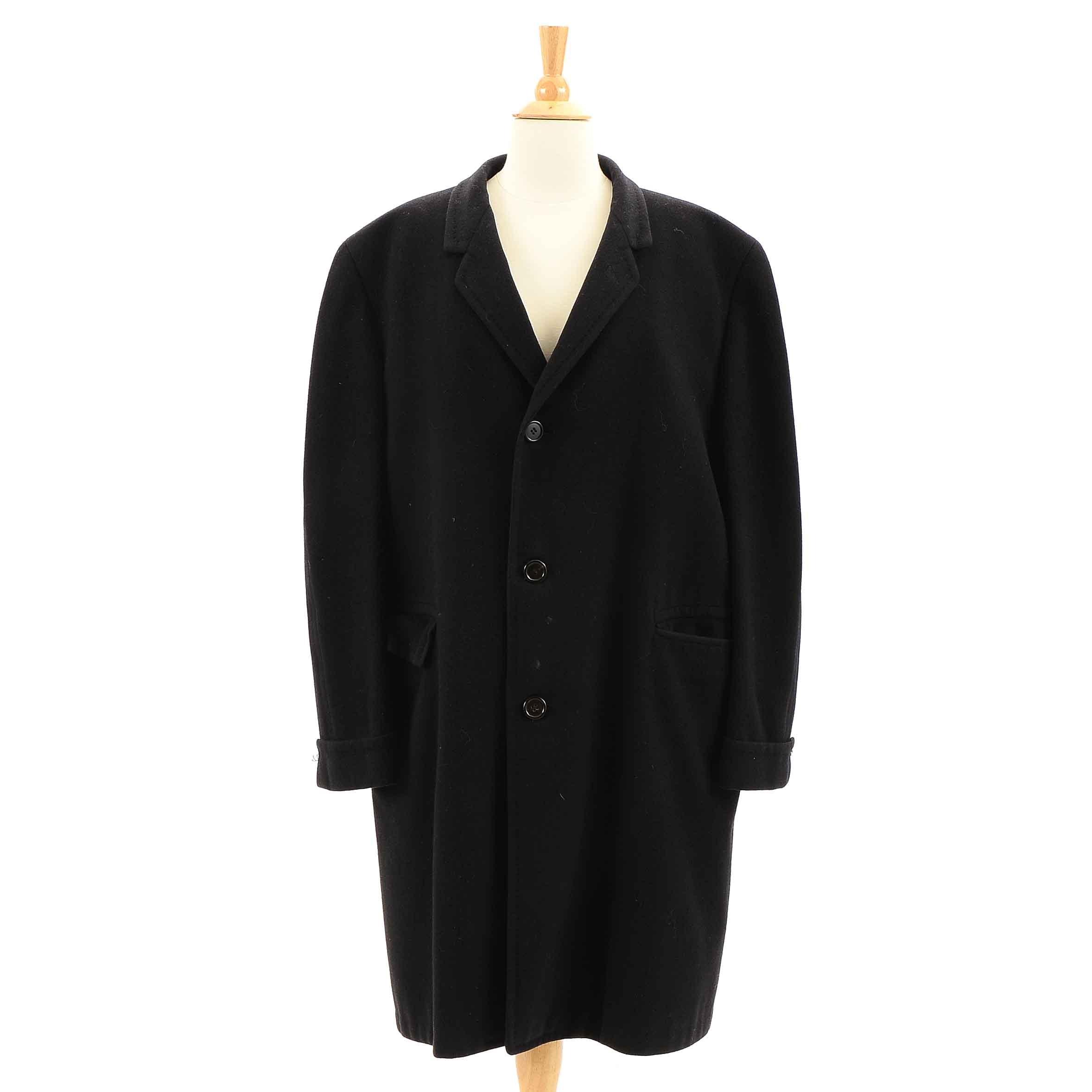 Men's Vintage Cashmere Dress Coat